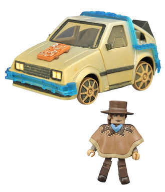 BTTF MINIMATES RAIL READY TIME MACHINE