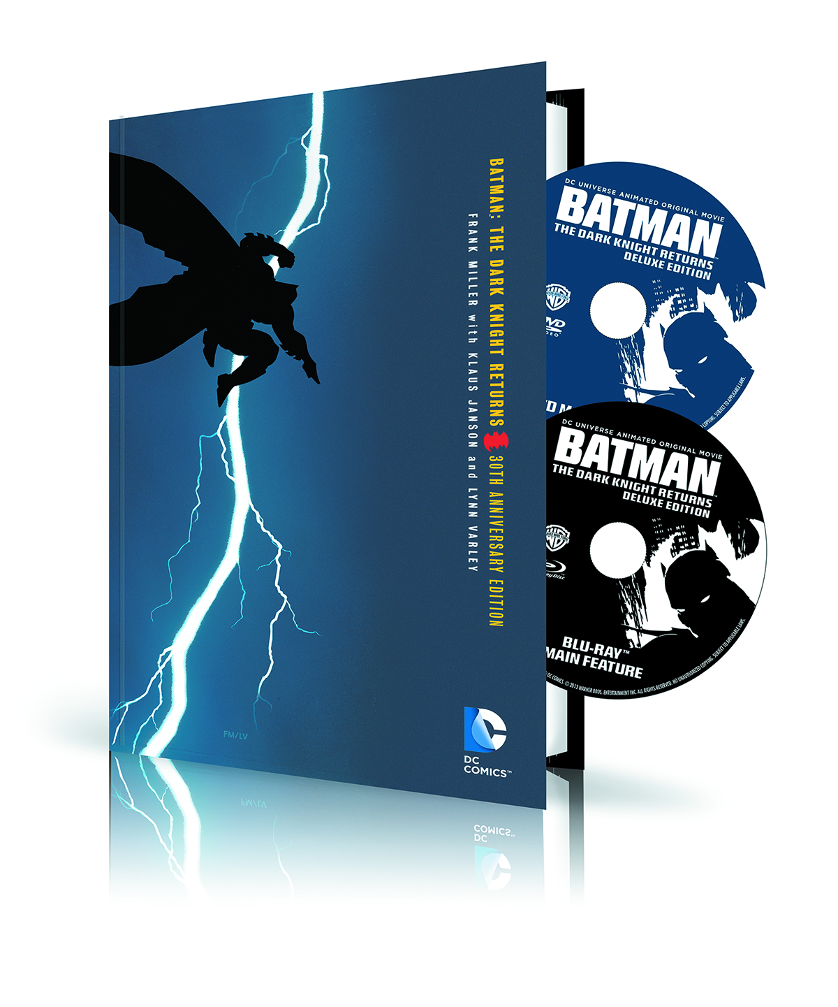 BATMAN DARK KNIGHT RETURNS HC BOOK & DVD BLU RAY SET