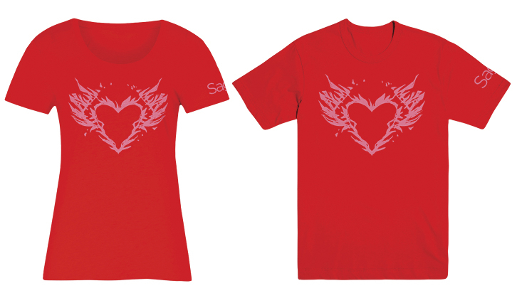 SAGA BURNING HEART MENS MED T/S