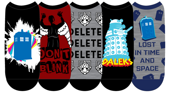 DOCTOR WHO LADIES LOW CUT SOCKS 5PK A