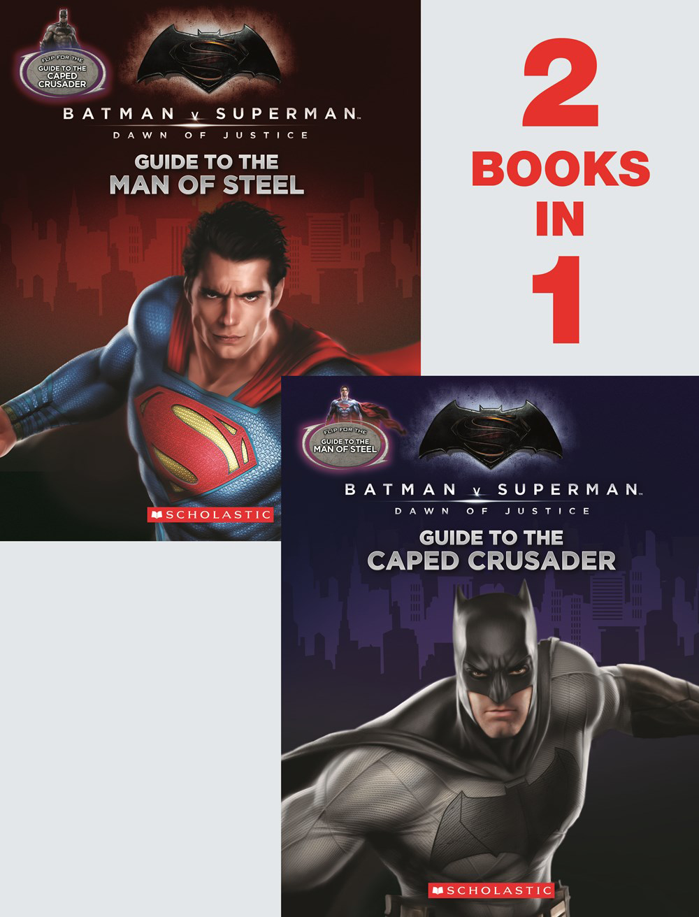 BATMAN VS SUPERMAN DOJ FLIP BOOK GT CAPED CRUSADER & MAN OF