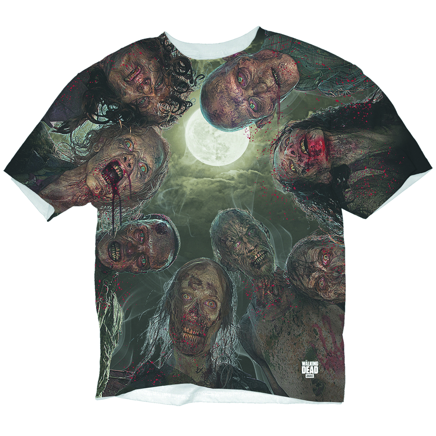WALKING DEAD WALKERS OVER YOU SUB T/S MED