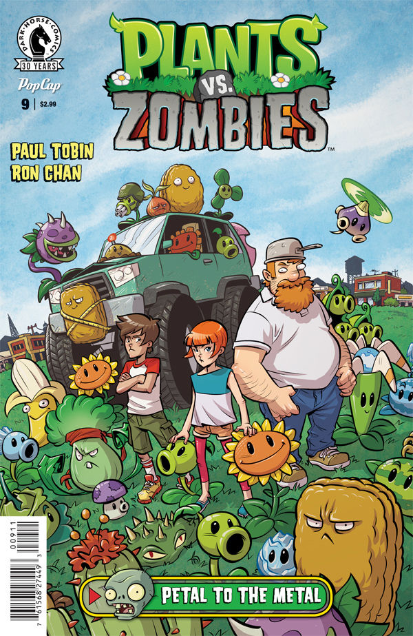 PLANTS VS ZOMBIES ONGOING #9 PETAL TO THE METAL