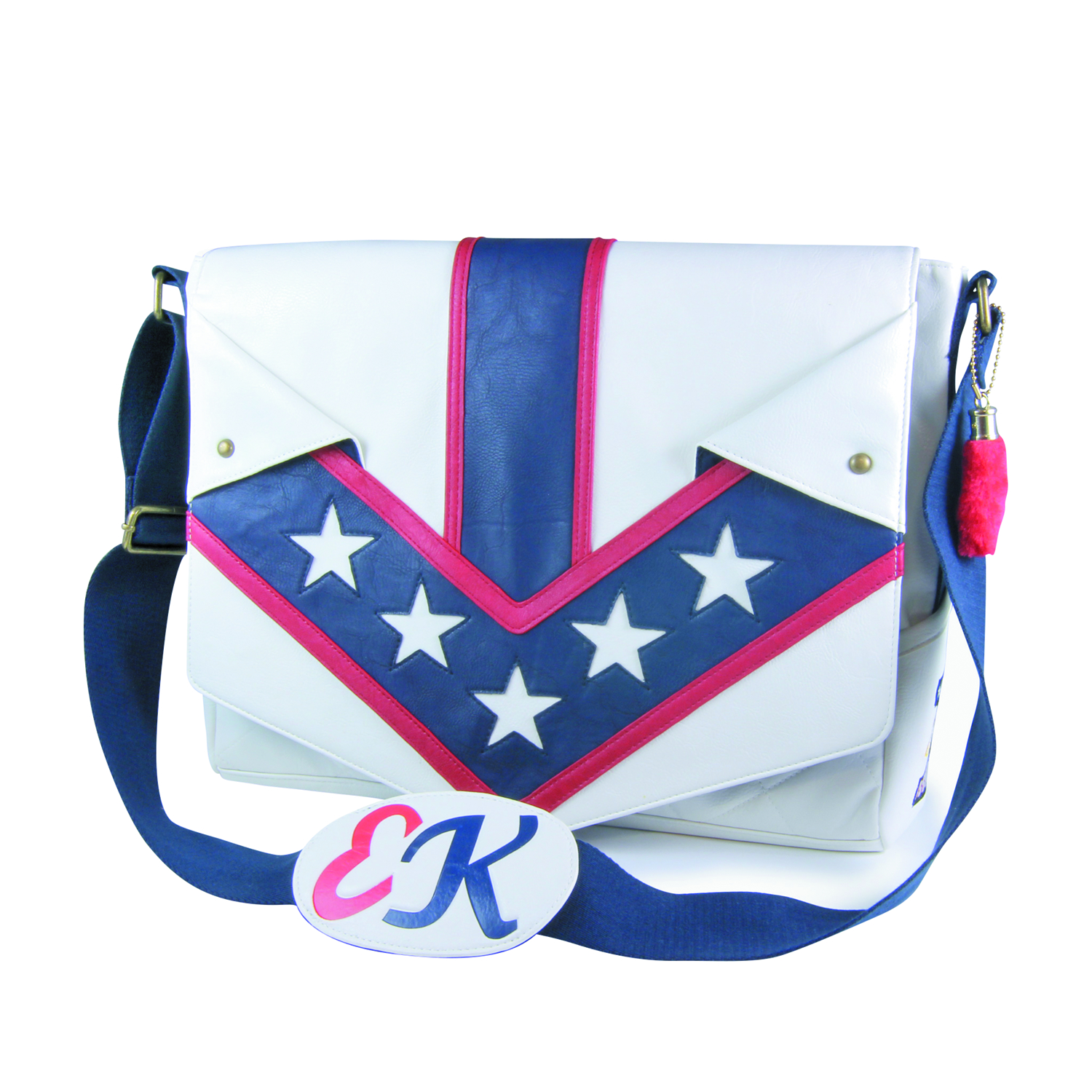EVEL KNIEVEL JUMPSUIT MESSENGER BAG