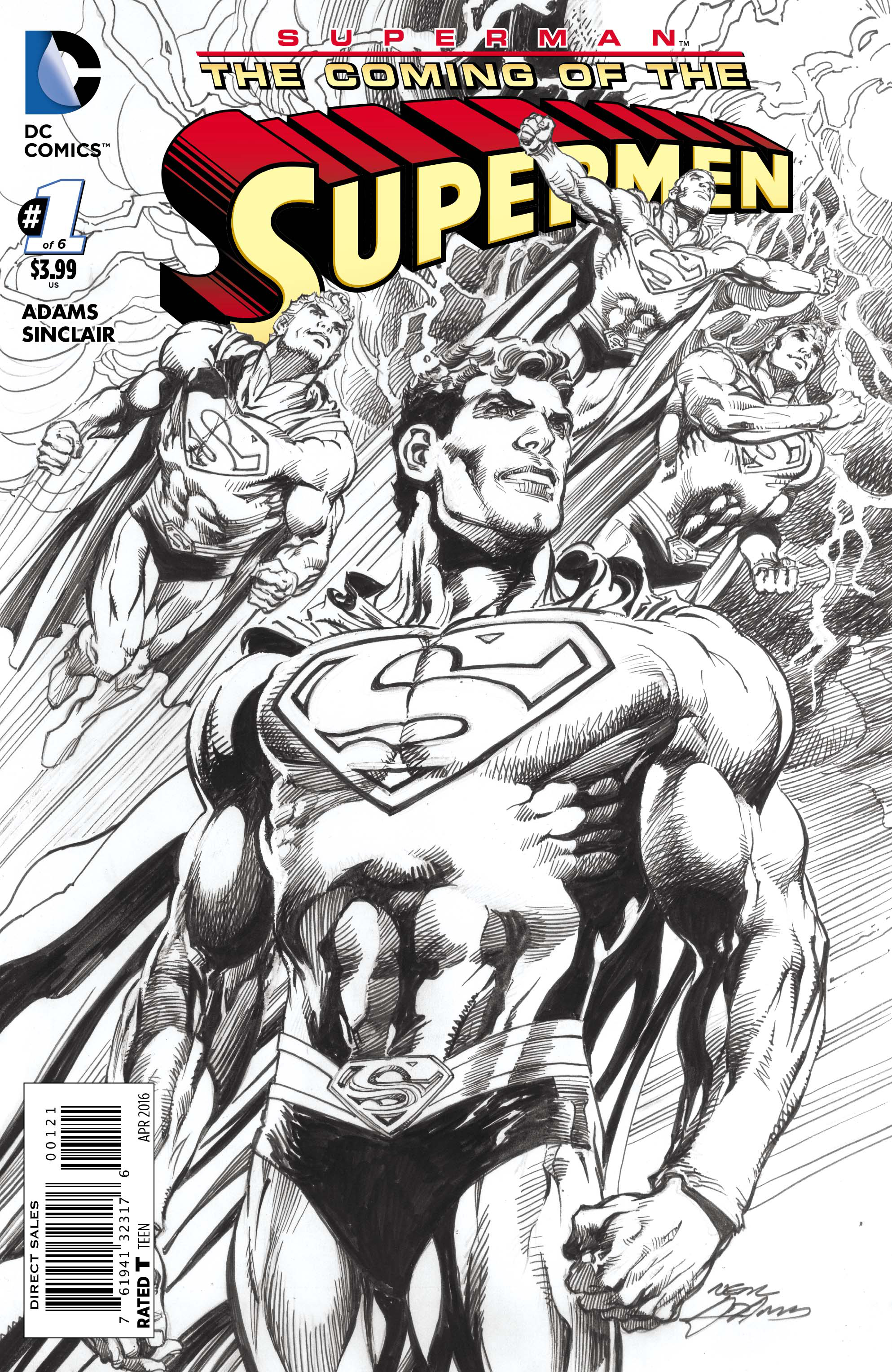 SUPERMAN THE COMING OF THE SUPERMEN #1 (OF 6) VAR ED