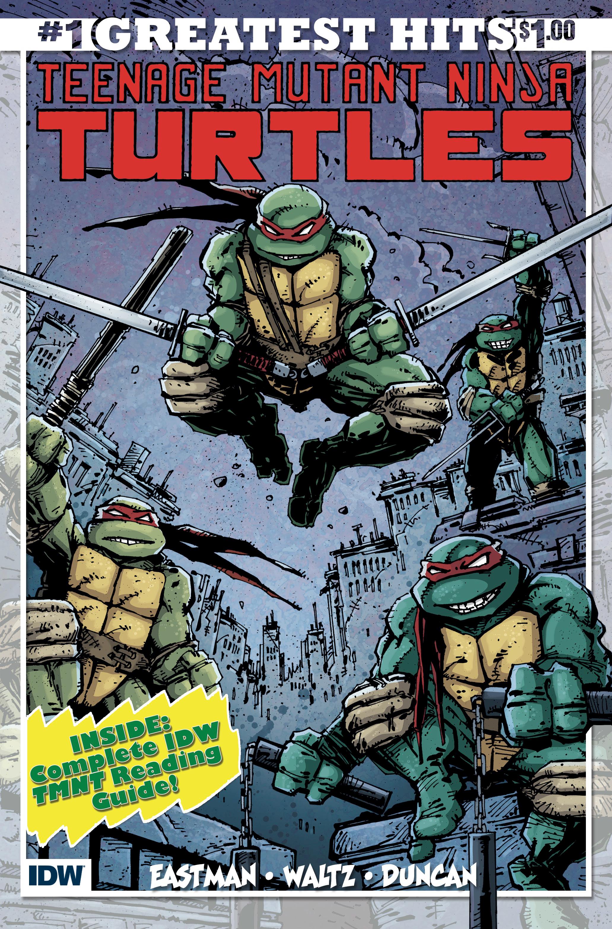 TEENAGE MUTANT NINJA TURTLES #1 IDW GREATEST HITS