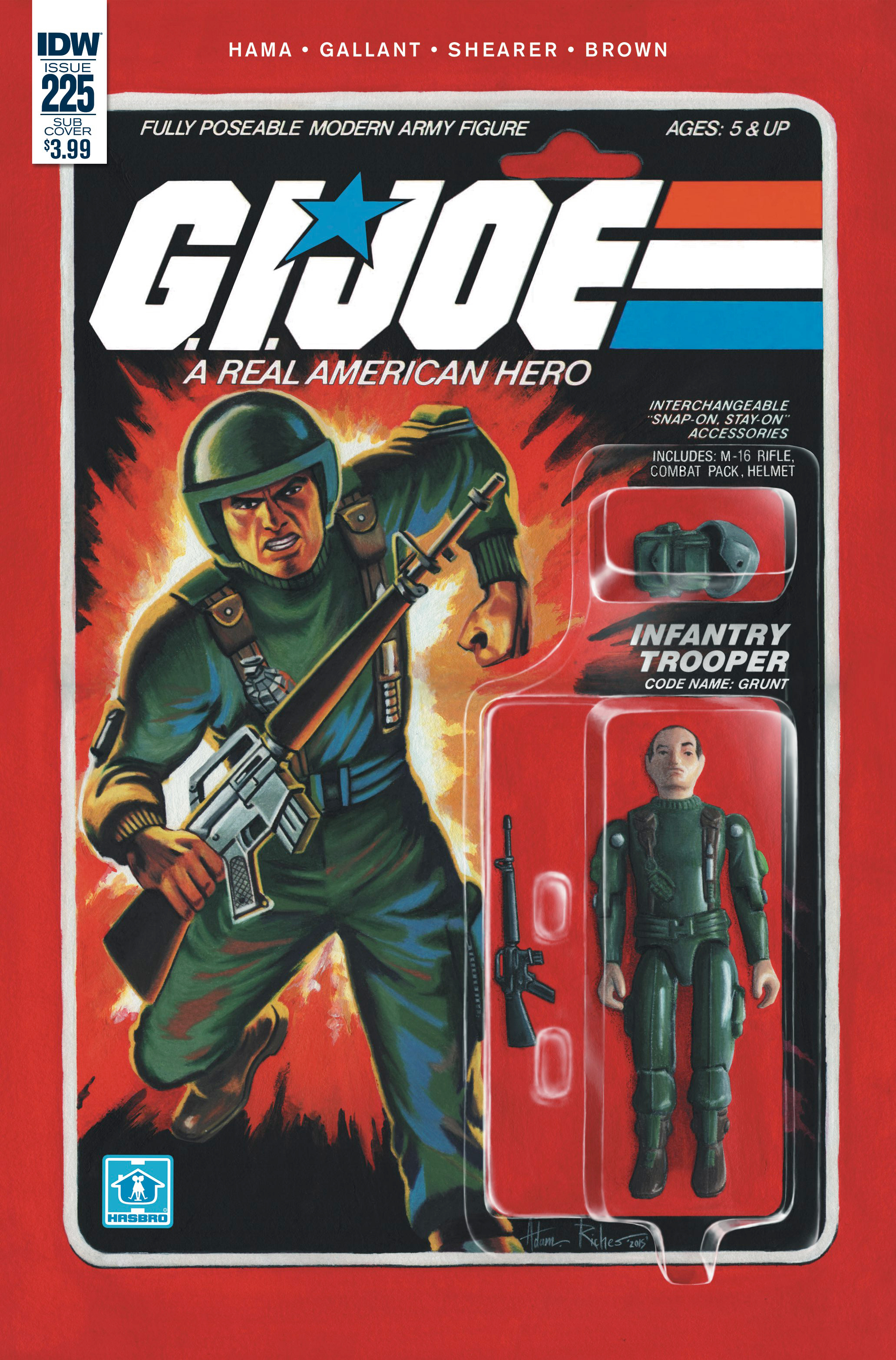 GI JOE A REAL AMERICAN HERO #225 SUBSCRIPTION VAR