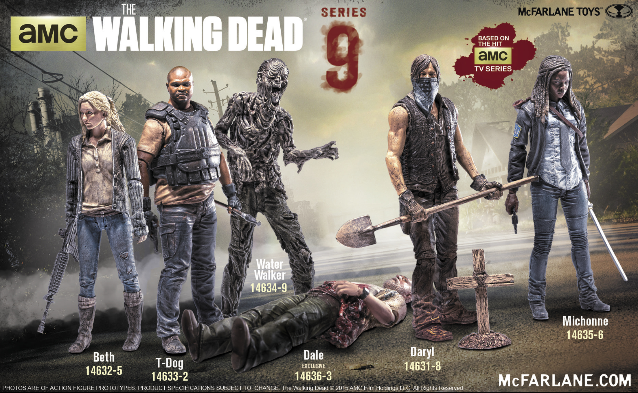 WALKING DEAD TV SERIES 9 GRAVE DARYL AF CS