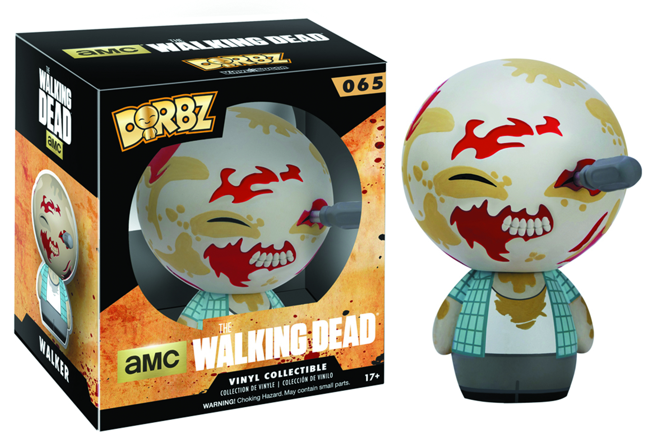 DORBZ WALKING DEAD WALKER VINYL FIG