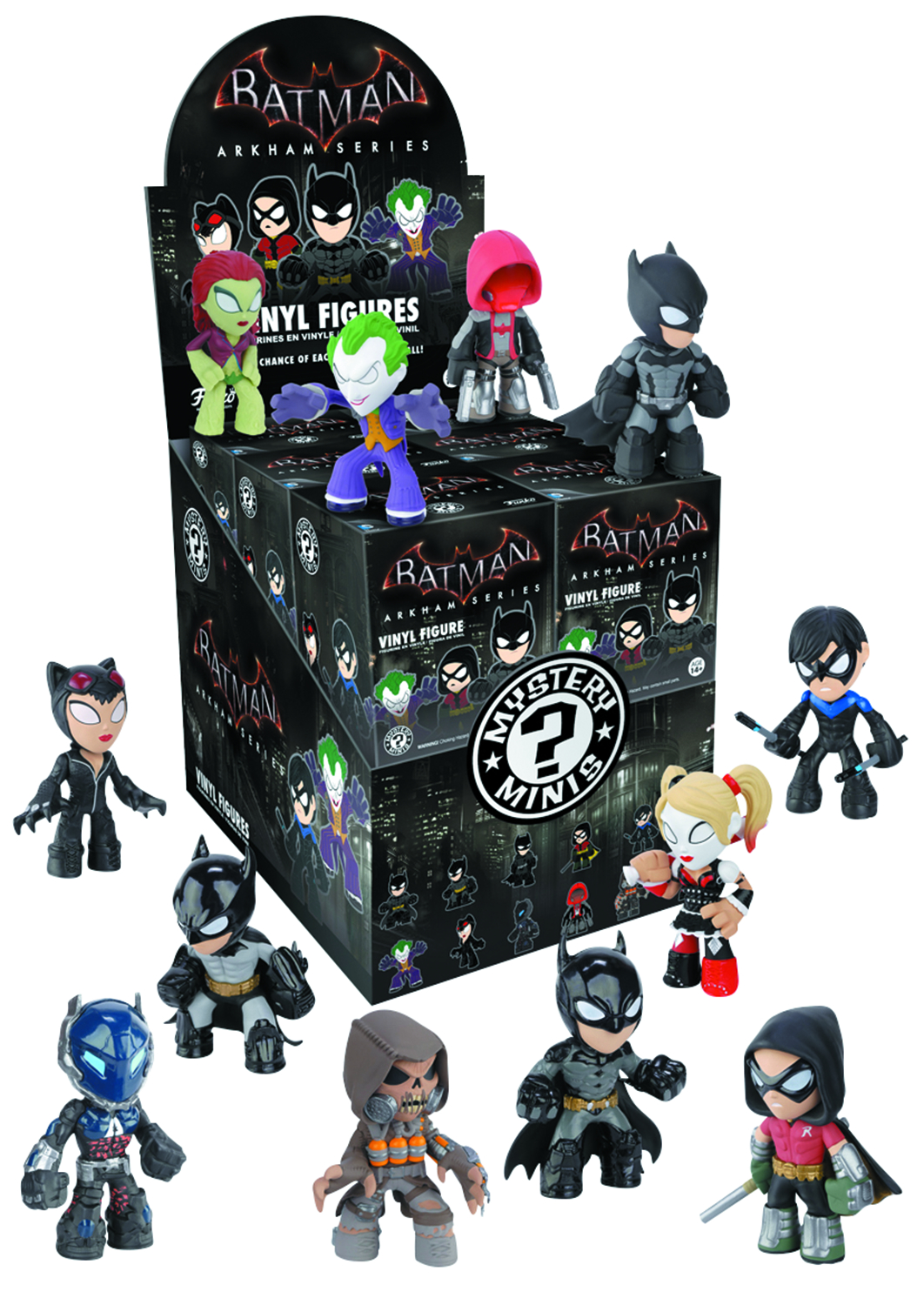 BATMAN ARKHAM KNIGHT MYSTERY MINIS 12PC BMB DISP