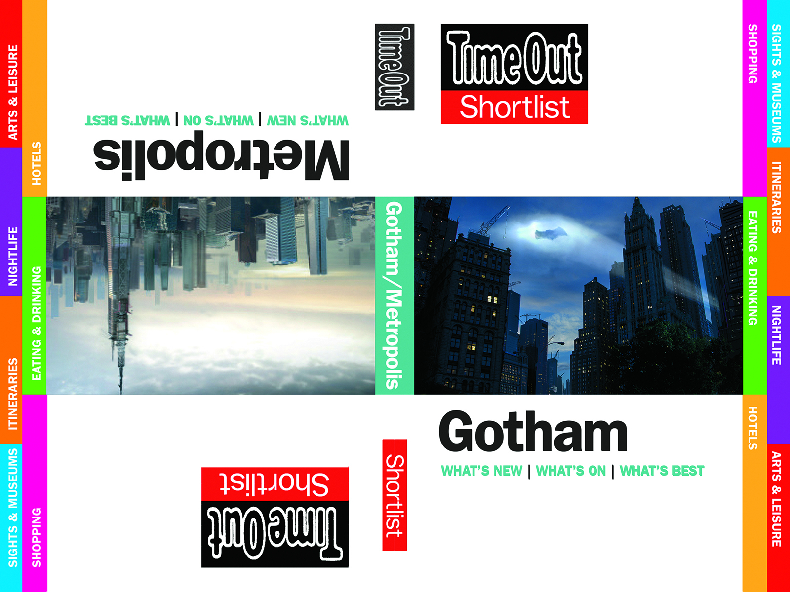 TIME OUT SHORTLIST GOTHAM METROPOLIS GUIDEBOOK