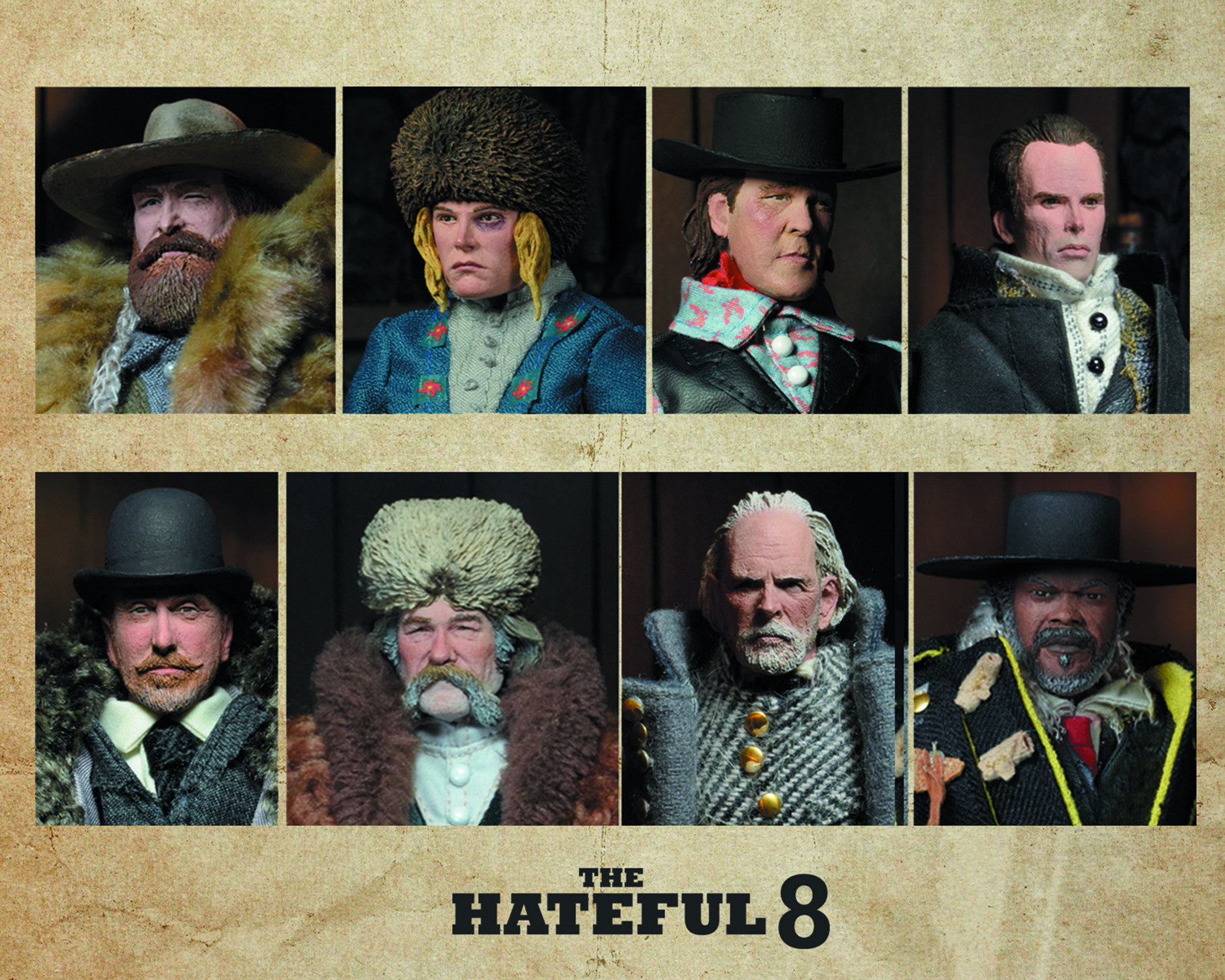 HATEFUL EIGHT MOVIE 8IN CLOTHED AF ASST