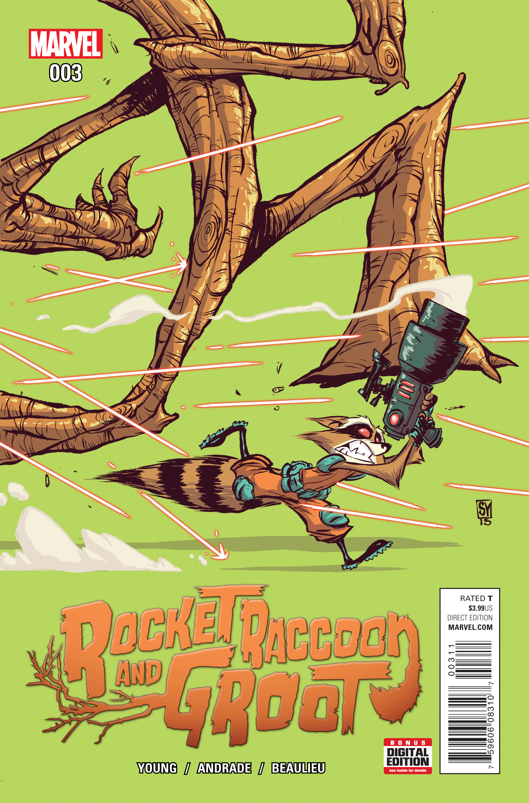 ROCKET RACCOON AND GROOT #3