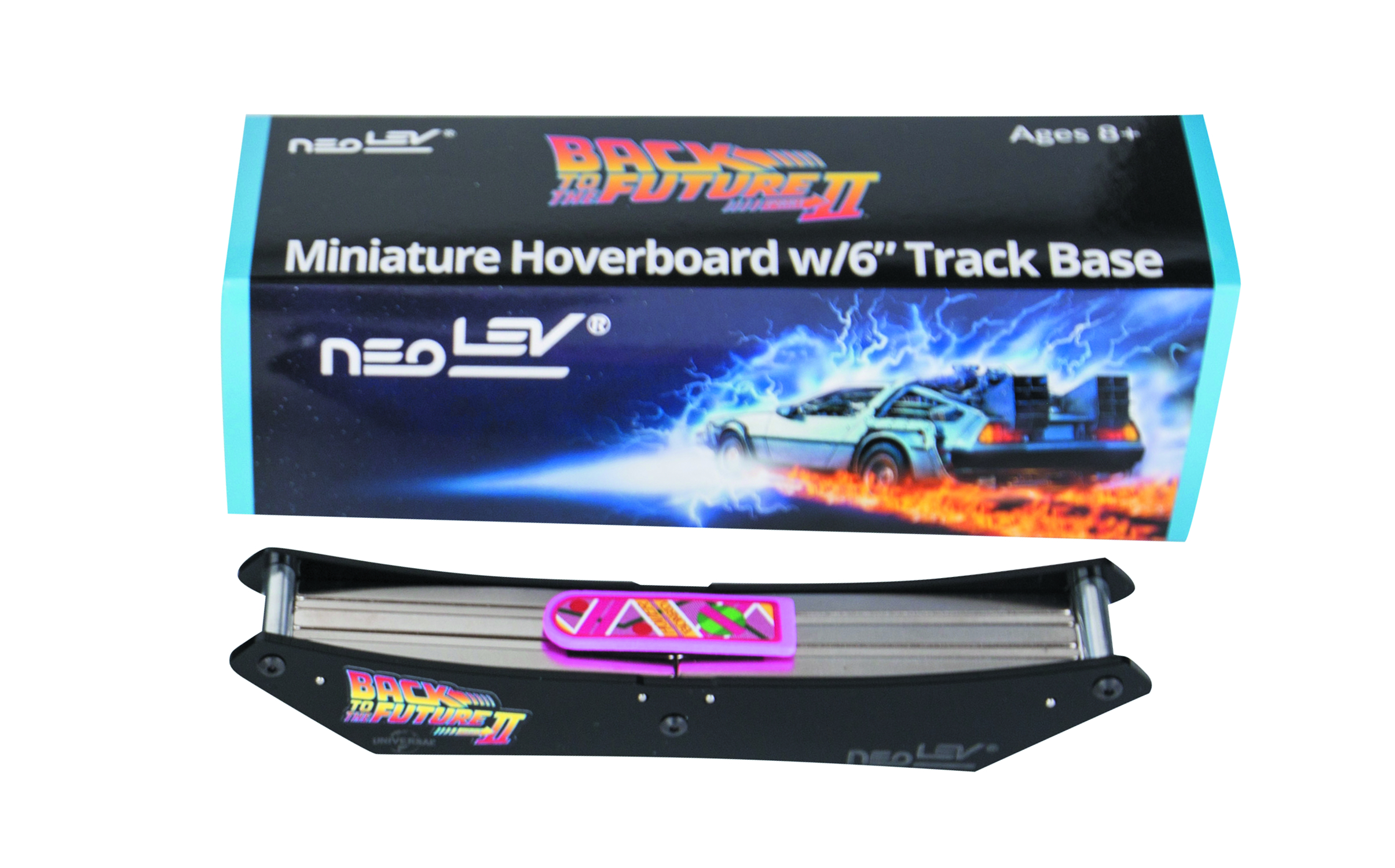 BTTF MINIATURE HOVERBOARD DESK TOY W/6IN BASE