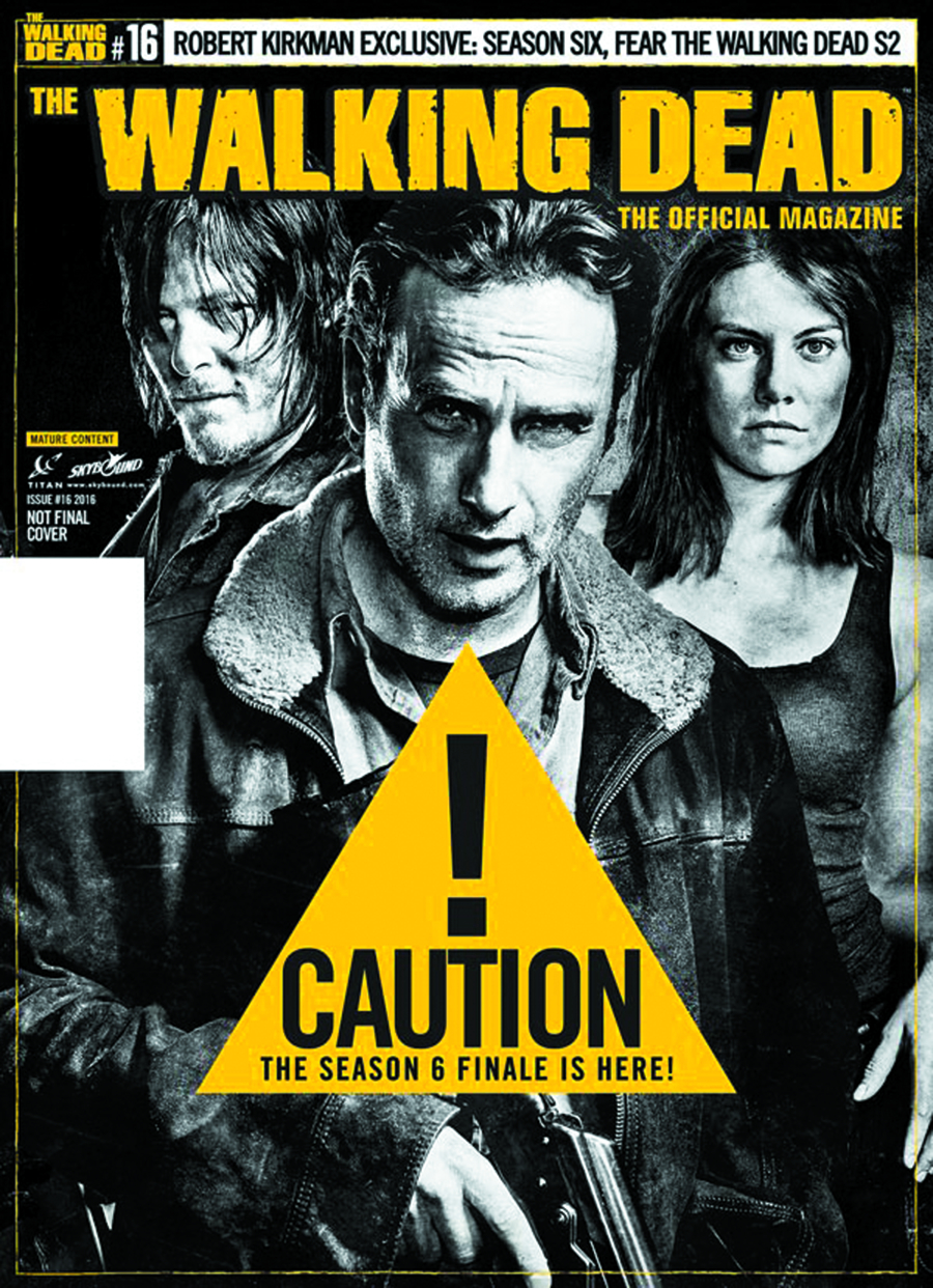 WALKING DEAD MAGAZINE #16 NEWSSTAND ED