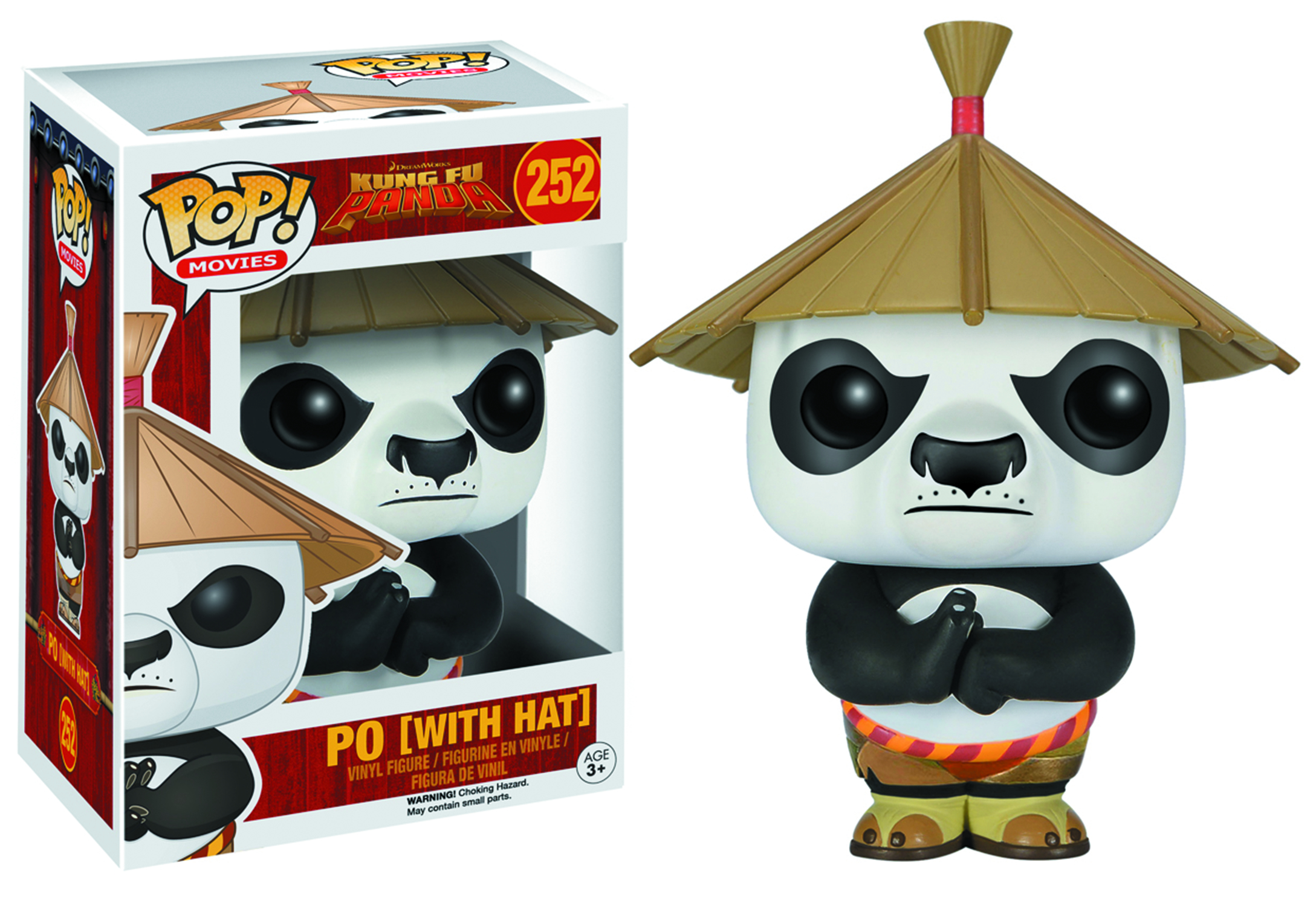 POP KUNG FU PANDA PO W/HAT VINYL FIG