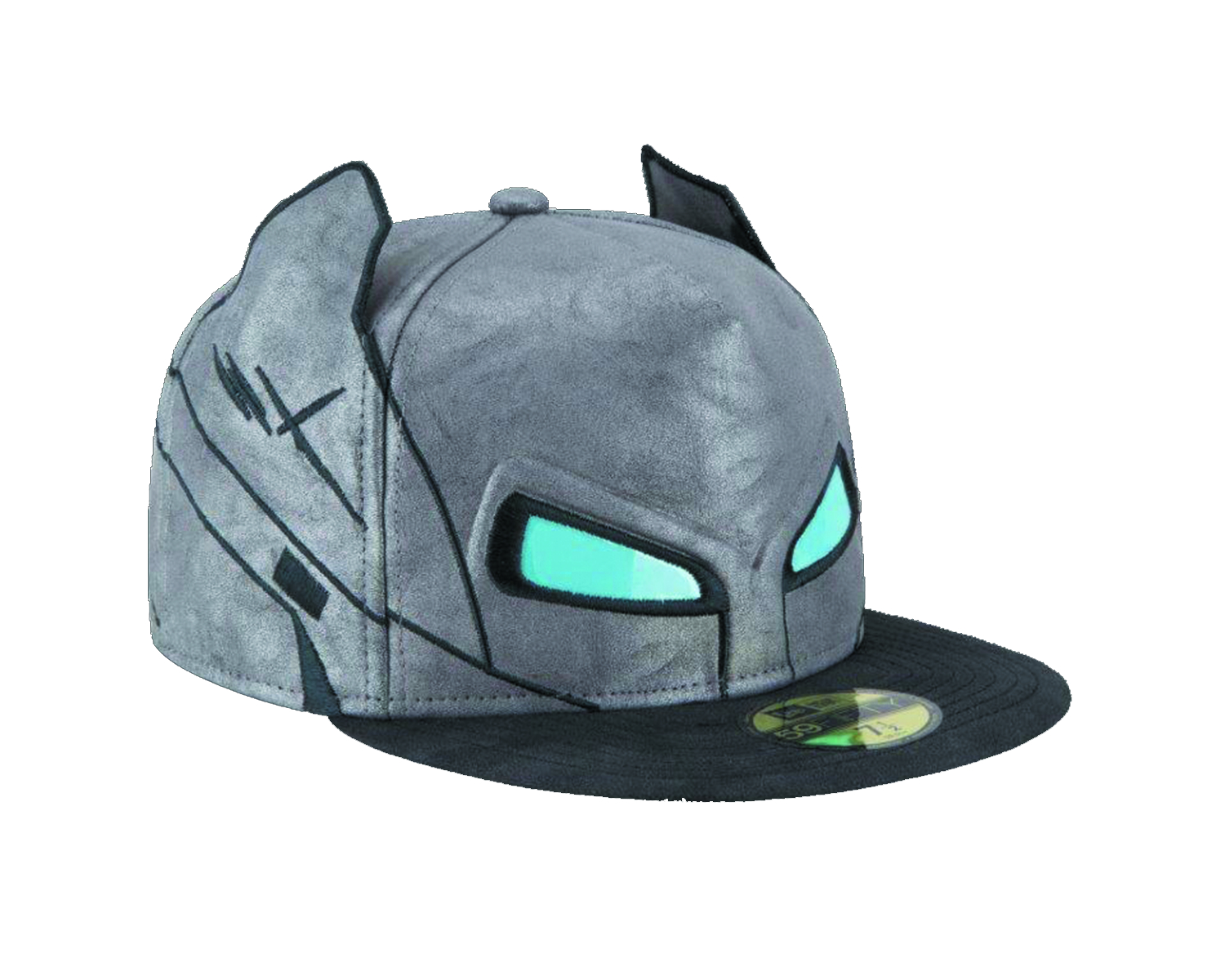 BATMAN V SUPERMAN ARMOR BATMAN HELMET FITTED CAP SZ 7 3/8