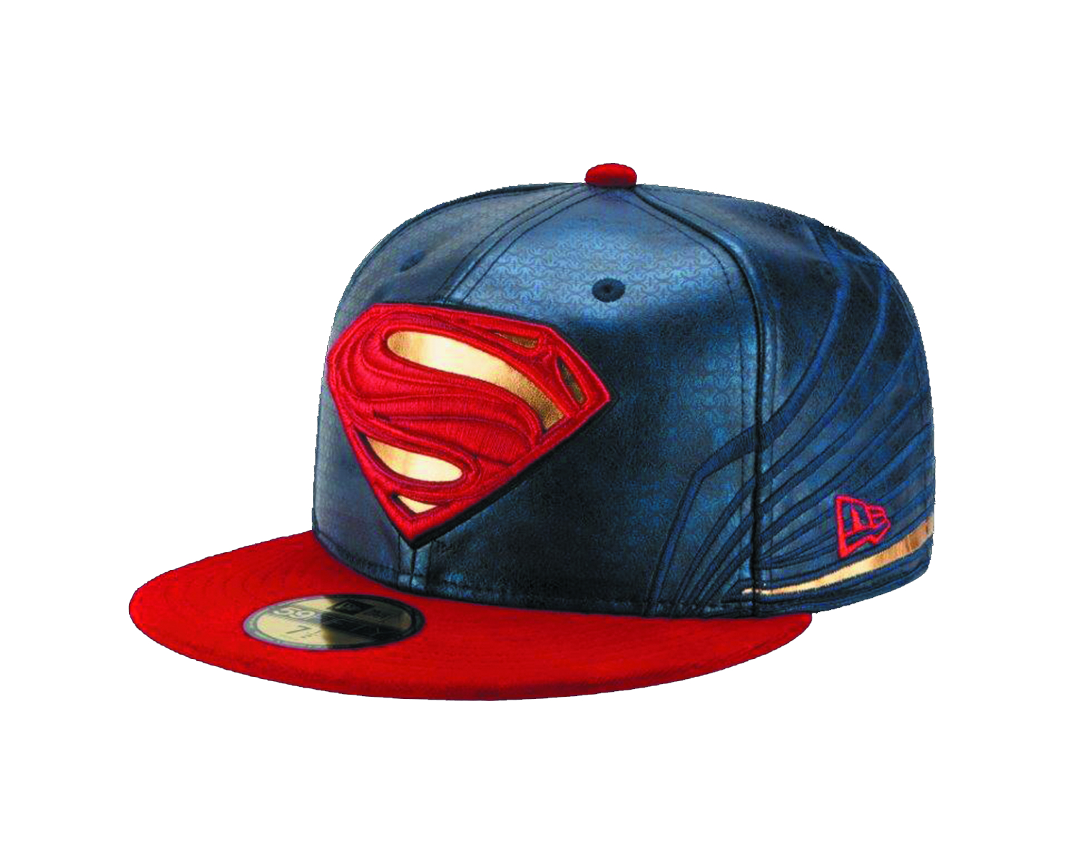 BATMAN V SUPERMAN ARMOR SUPERMAN FITTED CAP SZ 7 3/8