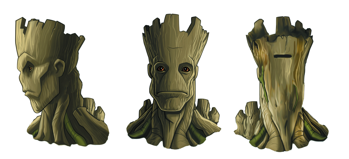 GUARDIANS OF THE GALAXY GROOT CERAMIC COIN BANK