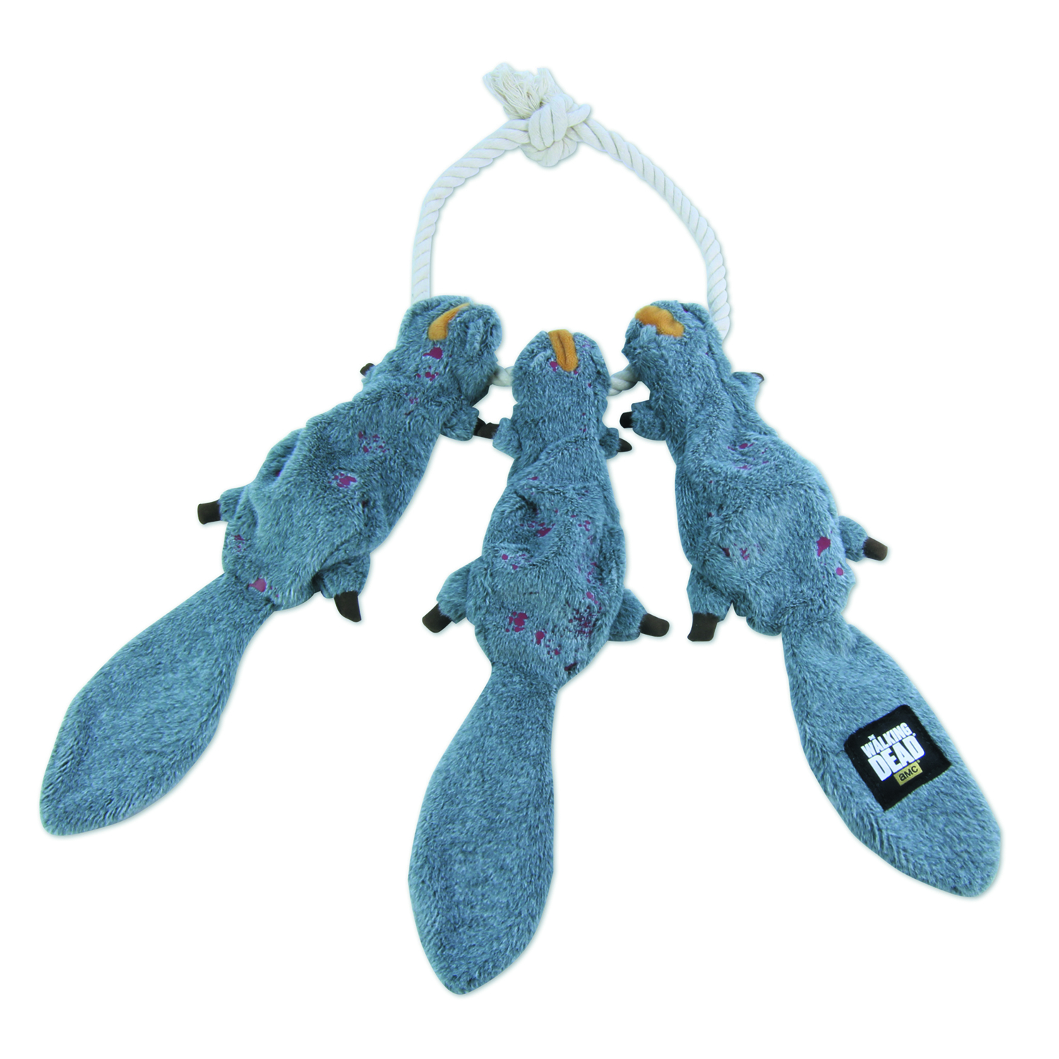 WALKING DEAD DARYLS SQUIRRELS ON A ROPE PLUSH CHEW TOY