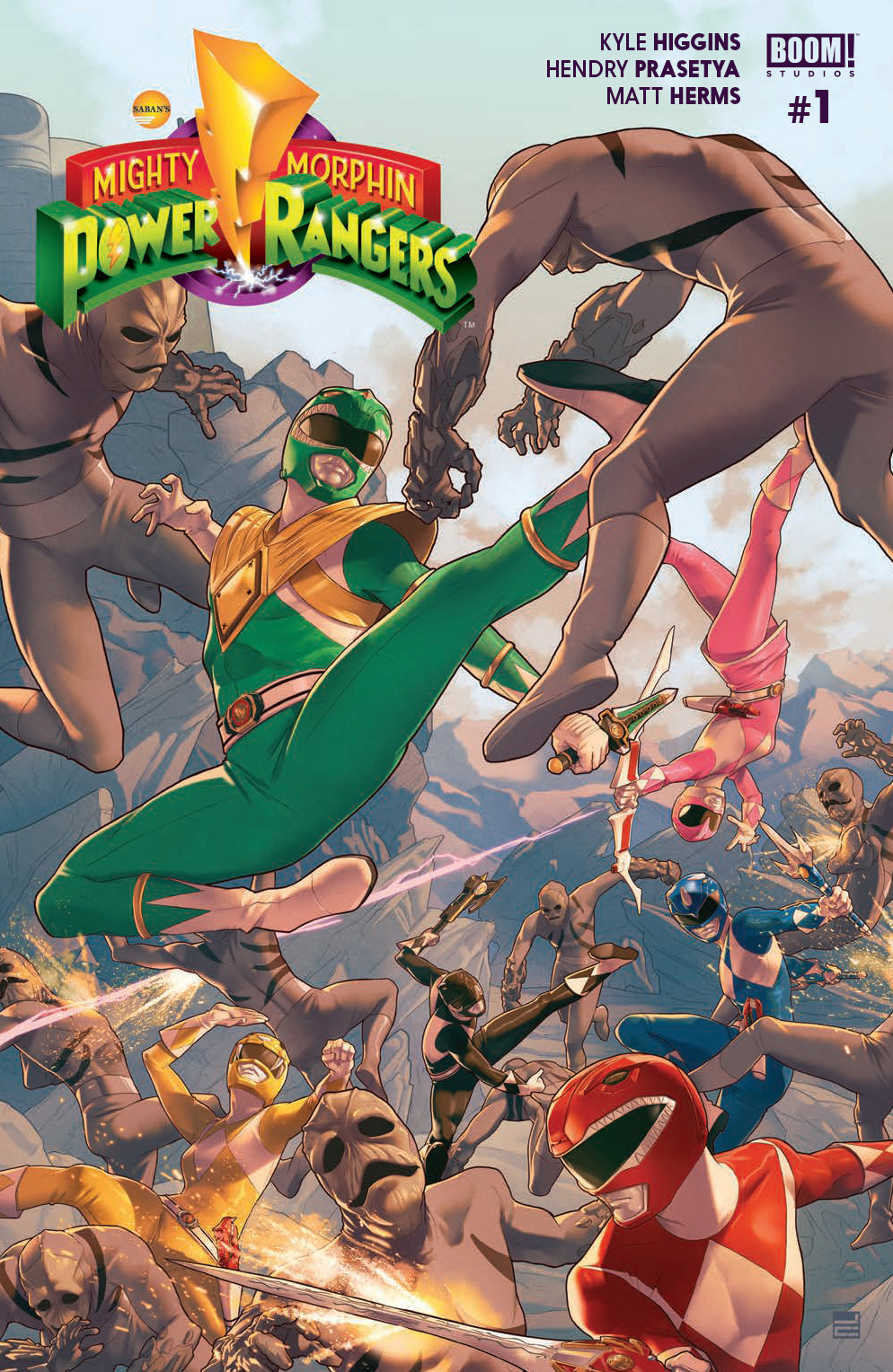 MIGHTY MORPHIN POWER RANGERS #1 MAIN CVR
