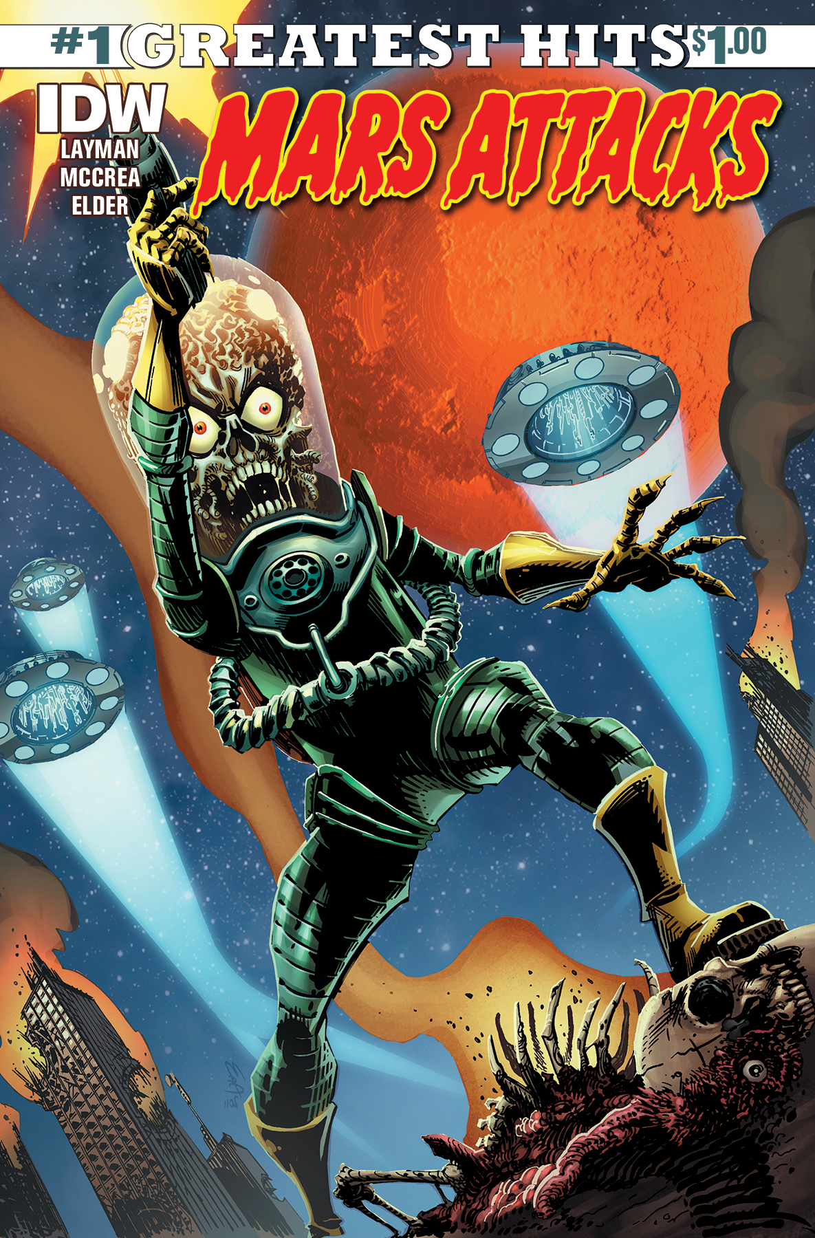 MARS ATTACKS #1 IDW GREATEST HITS