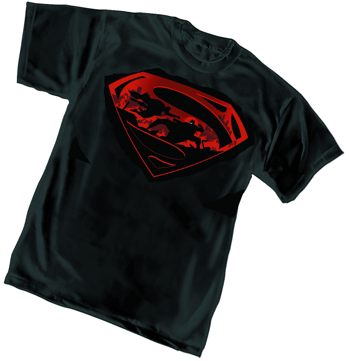 BATMAN V SUPERMAN BATTLE SYMBOL T/S XL