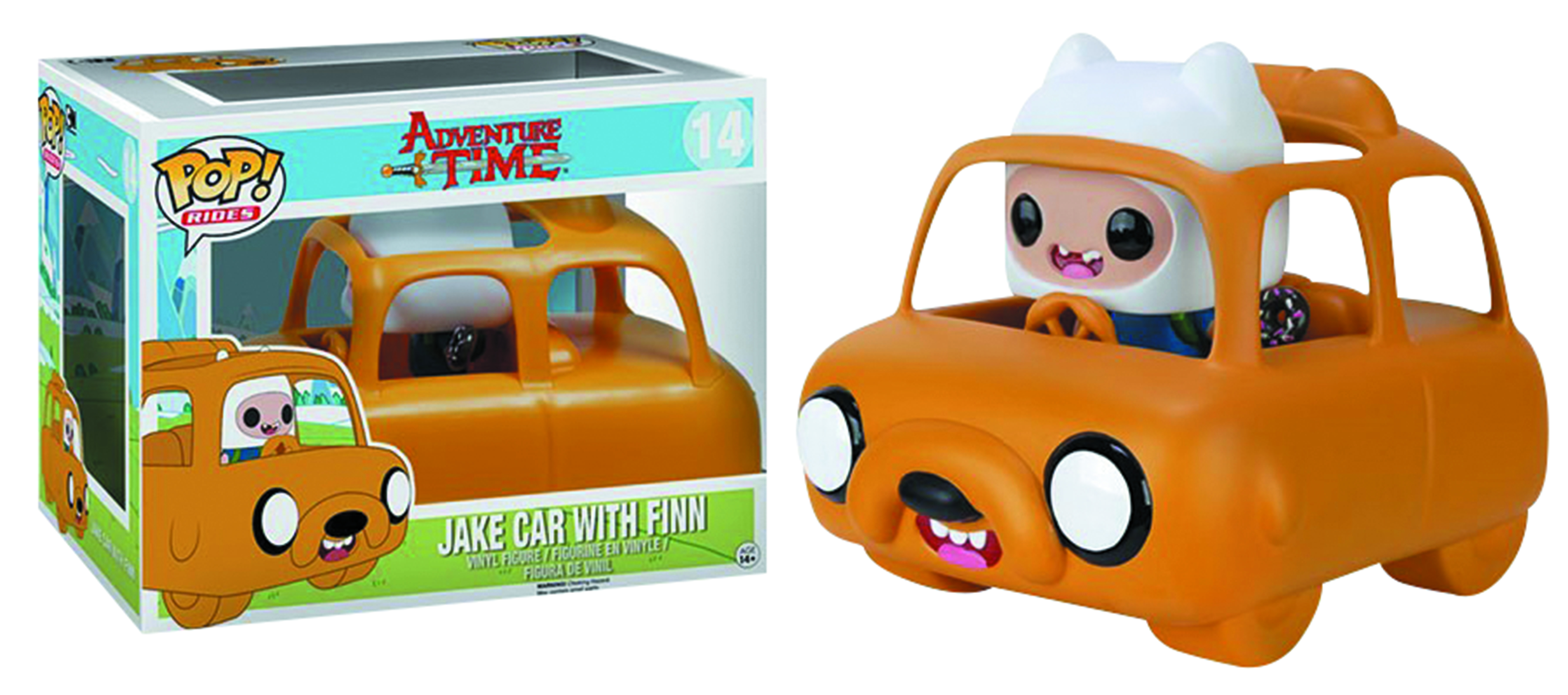 POP RIDES ADVENTURE TIME JAKE CAR & FINN VIN FIG