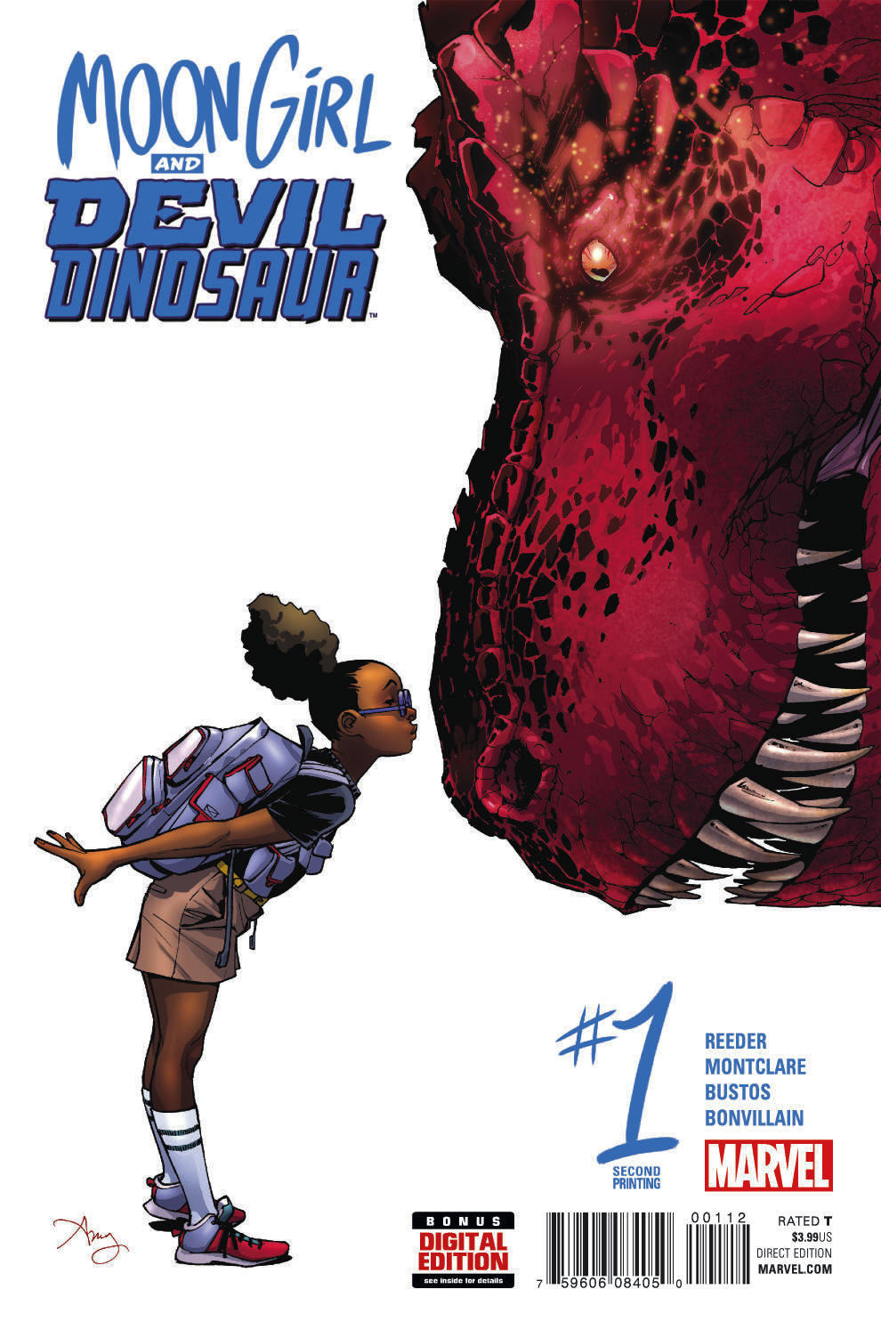 MOON GIRL AND DEVIL DINOSAUR #1 REEDER 2ND PTG VAR