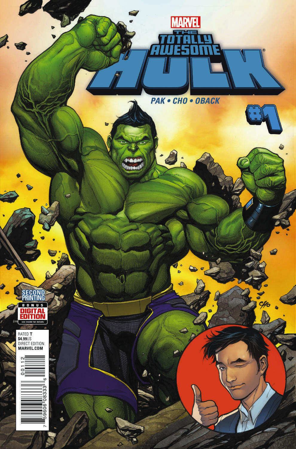 TOTALLY AWESOME HULK #1 FRANK CHO 2ND PTG VAR