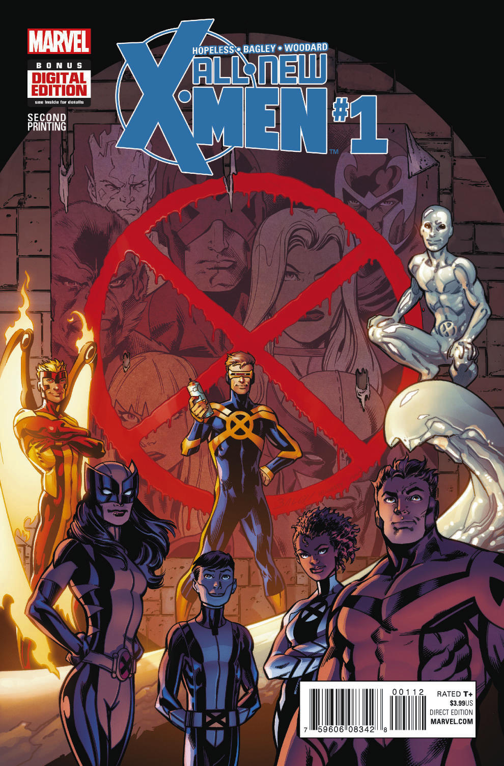 ALL NEW X-MEN #1 BAGLEY 2ND PTG VAR