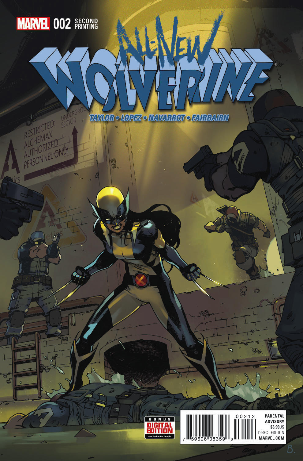 ALL NEW WOLVERINE #2 BENGAL 2ND PTG VAR
