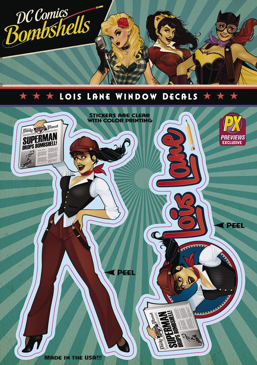Feb162859 Dc Bombshells Lois Lane Px Vinyl Decal