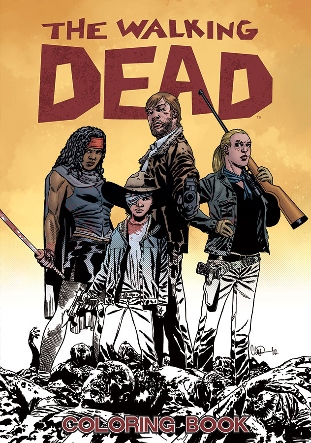 WALKING DEAD ADULT COLORING BOOK MR
