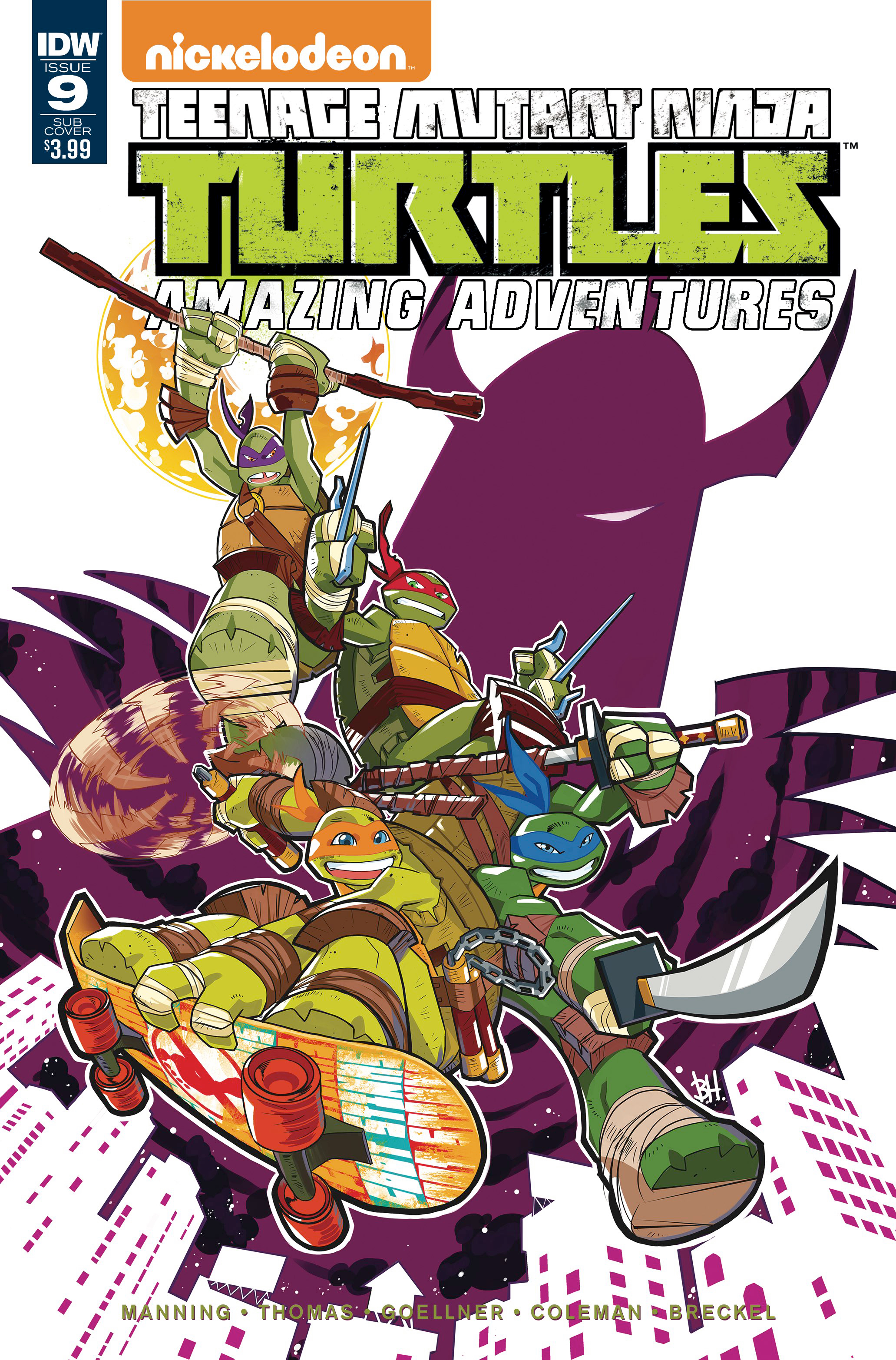 TMNT AMAZING ADVENTURES #9 SUBSCRIPTION VAR