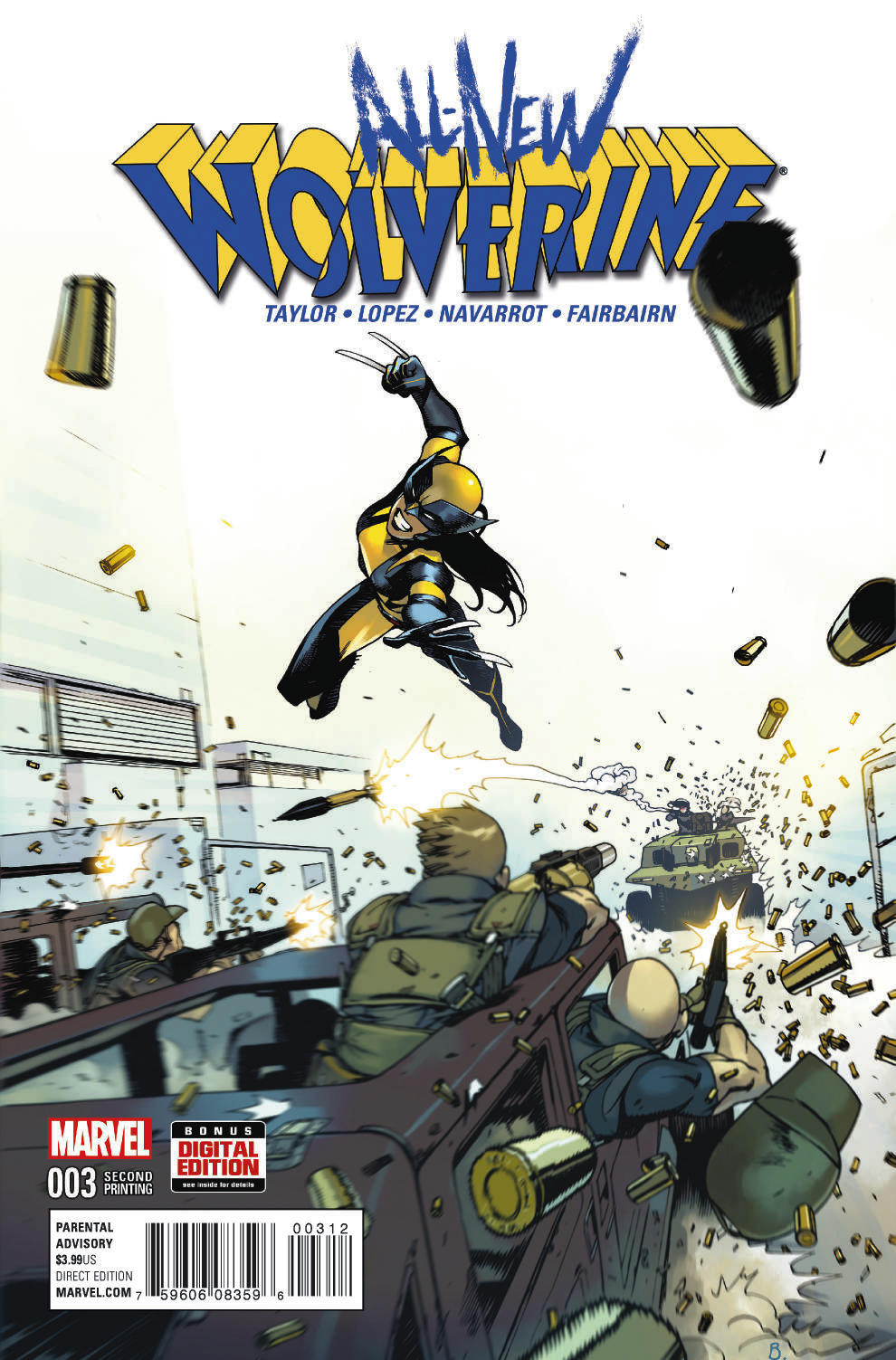 ALL NEW WOLVERINE #3 BENGAL 2ND PTG VAR