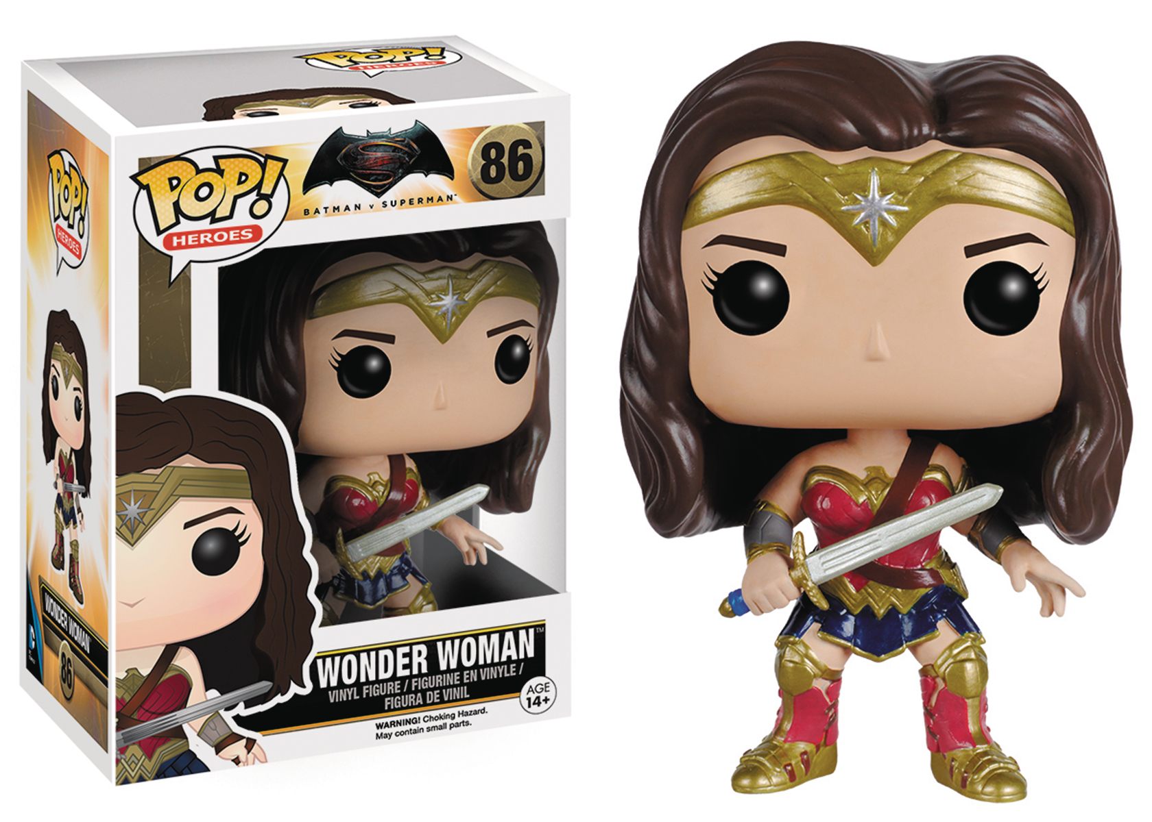 POP BVS WONDER WOMAN VINYL FIG