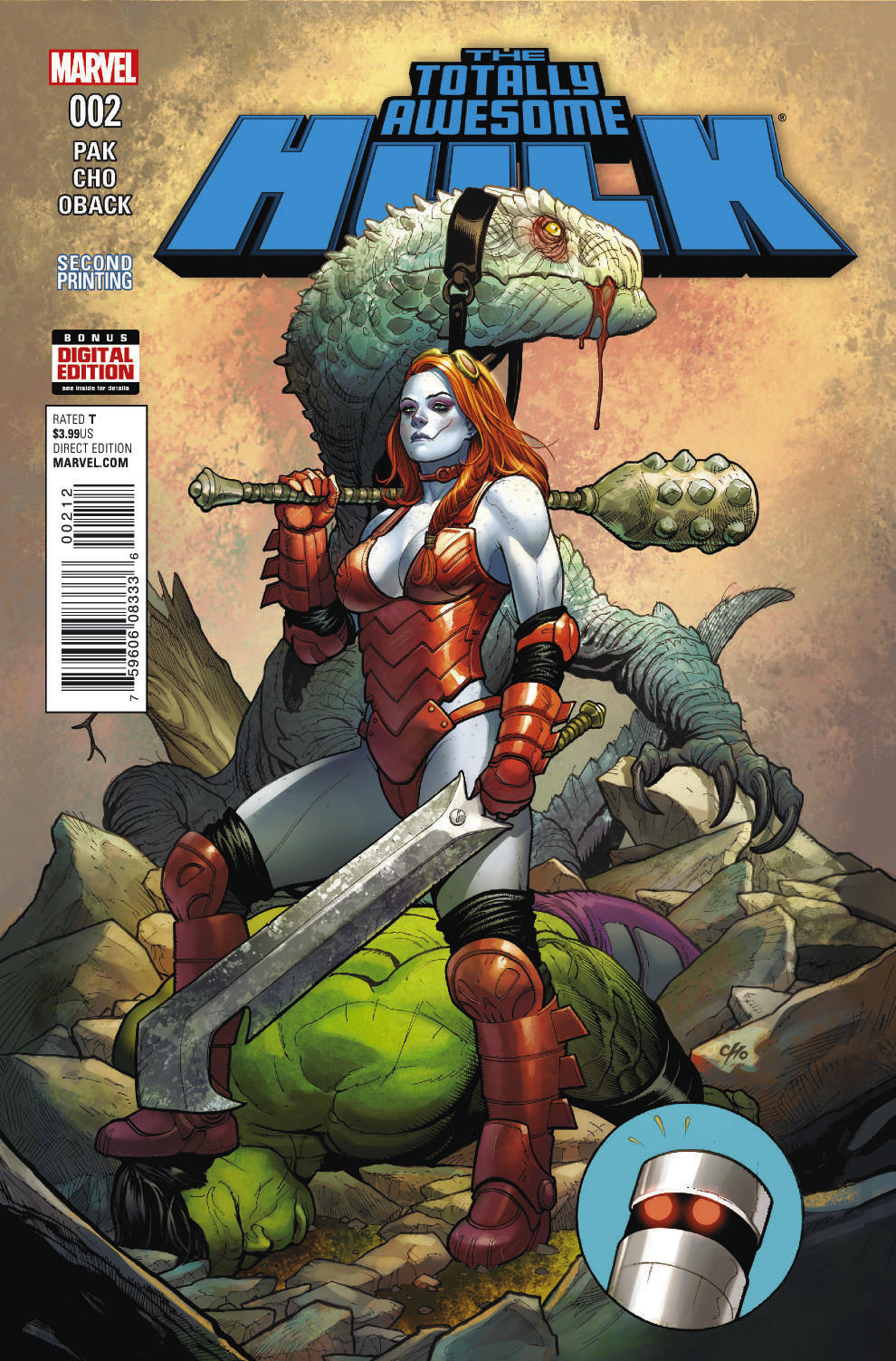 TOTALLY AWESOME HULK #2 FRANK CHO 2ND PTG VAR