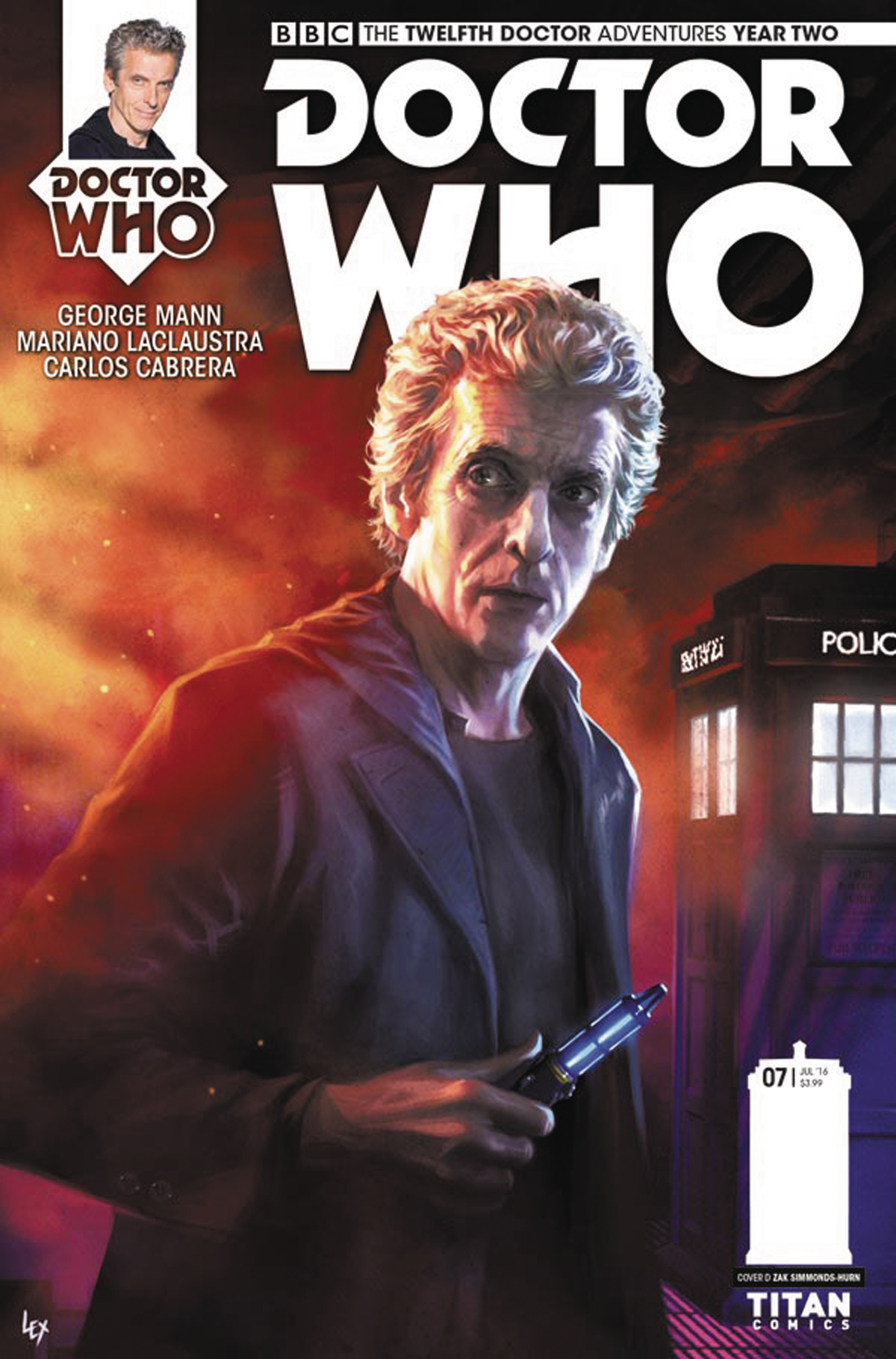DOCTOR WHO 12TH YEAR TWO #7 CVR A RONALD