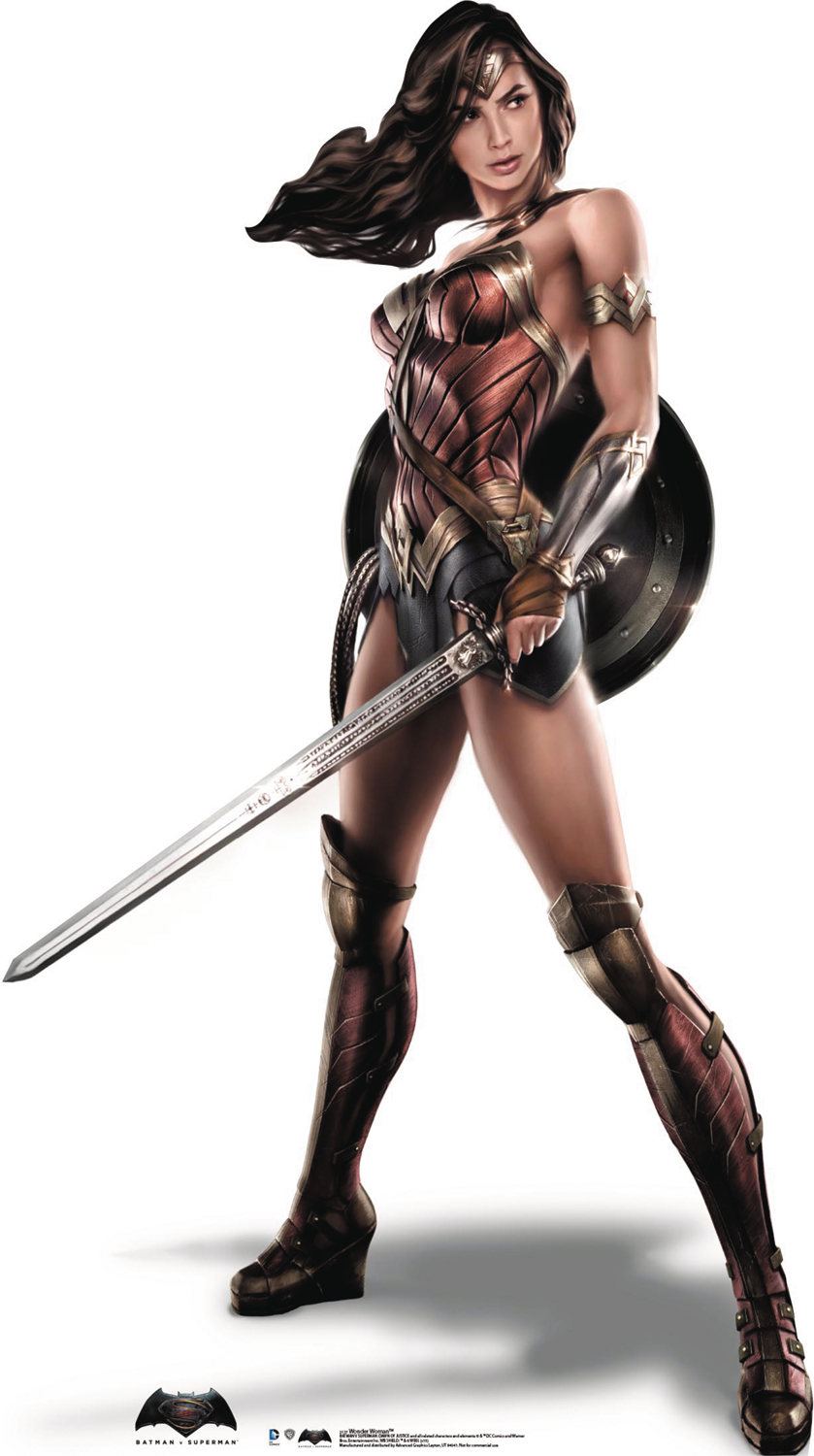 BATMAN VS SUPERMAN WONDER WOMAN LIFE-SIZE STANDUP