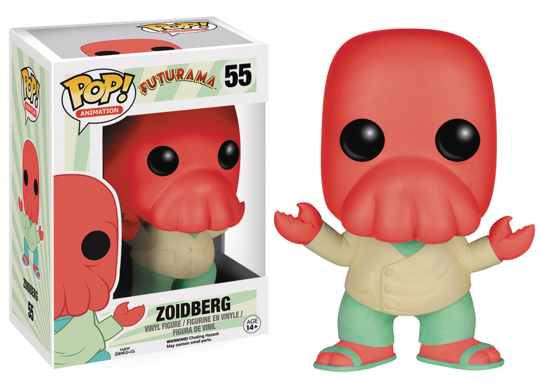 Dec158448 Pop Futurama Zoidberg Vinyl Fig Previews World
