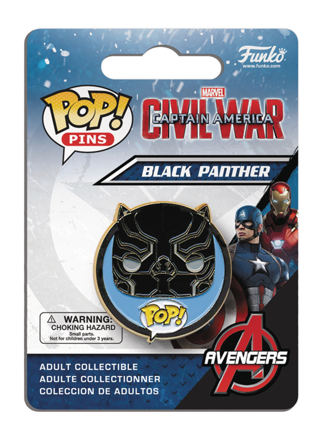 POP PINS CAPTAIN AMERICA 3 BLACK PANTHER