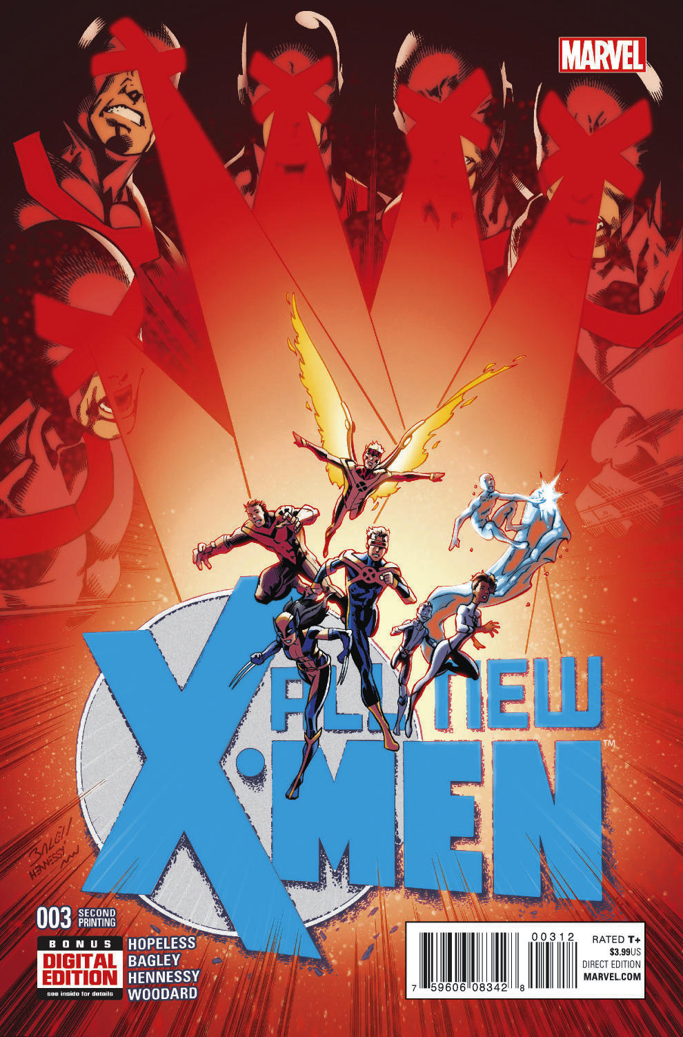 ALL NEW X-MEN #3 BAGLEY 2ND PTG VAR