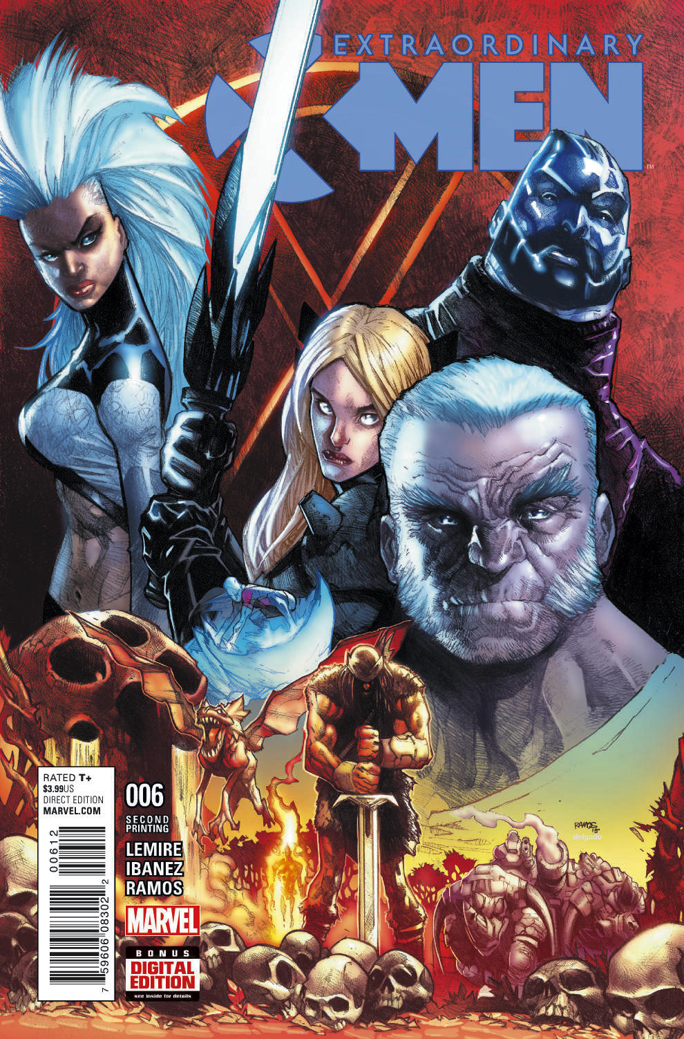 EXTRAORDINARY X-MEN #6 RAMOS 2ND PTG VAR