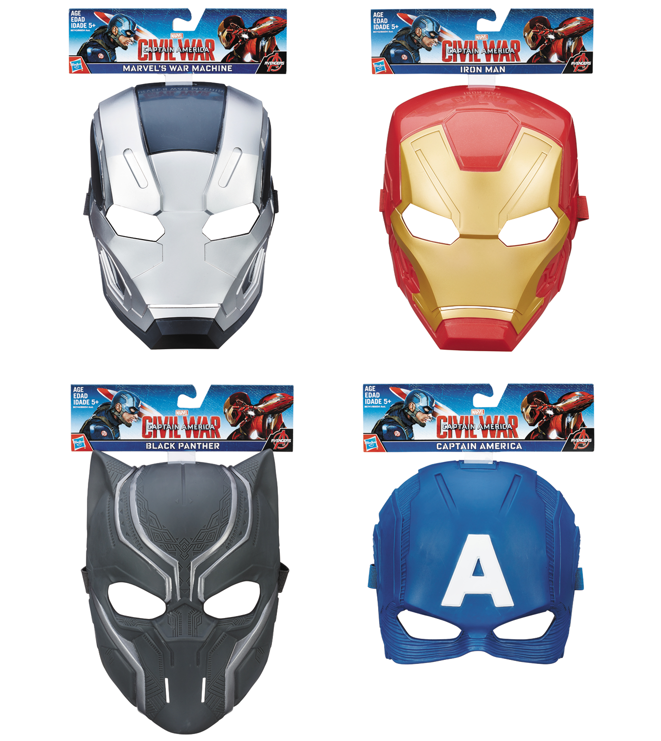 CAPTAIN AMERICA CW HERO MASK ASST 201601
