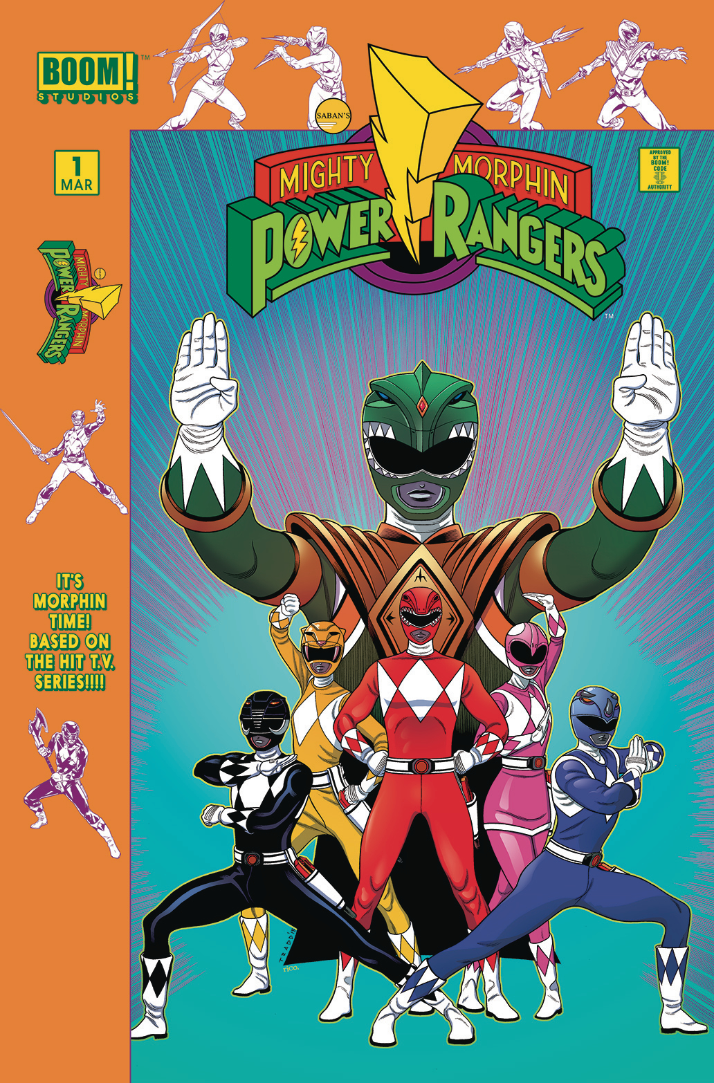 MIGHTY MORPHIN POWER RANGERS #1 LAUNCH PARTY VAR INCV
