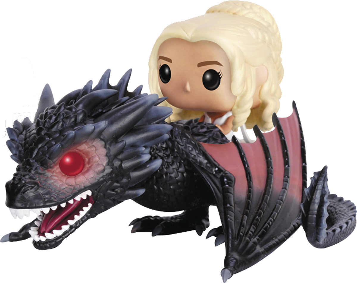 POP RIDES GAME OF THRONES DROGON & DAENERYS VIN FIG