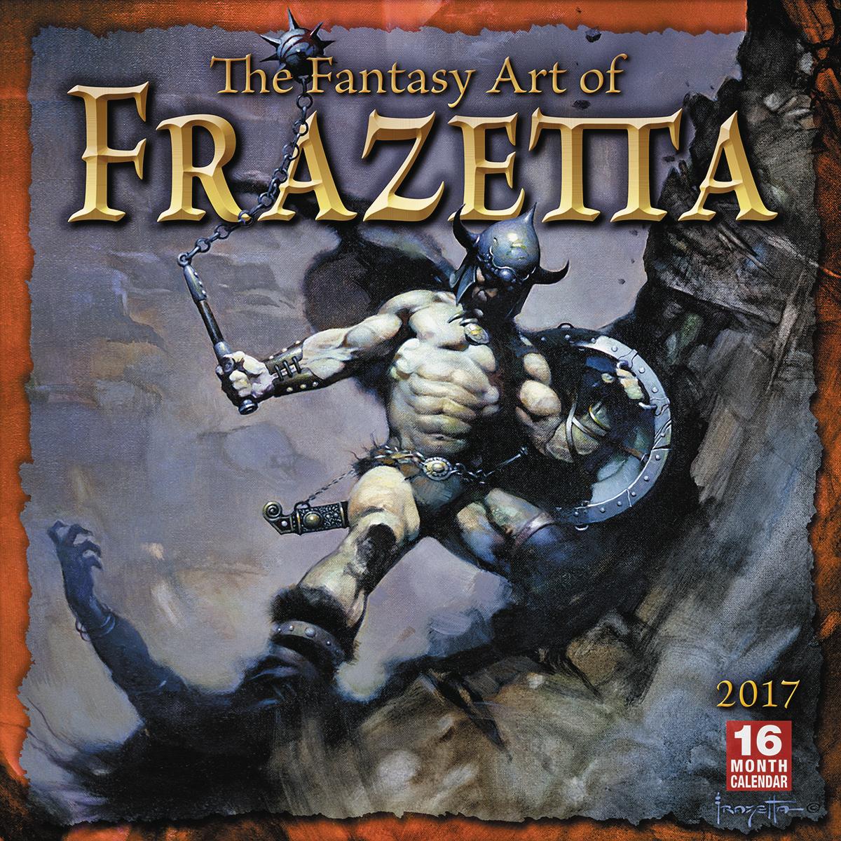 Apr162301 Fantasy Art Of Frazetta 2017 Wall Calendar Mr