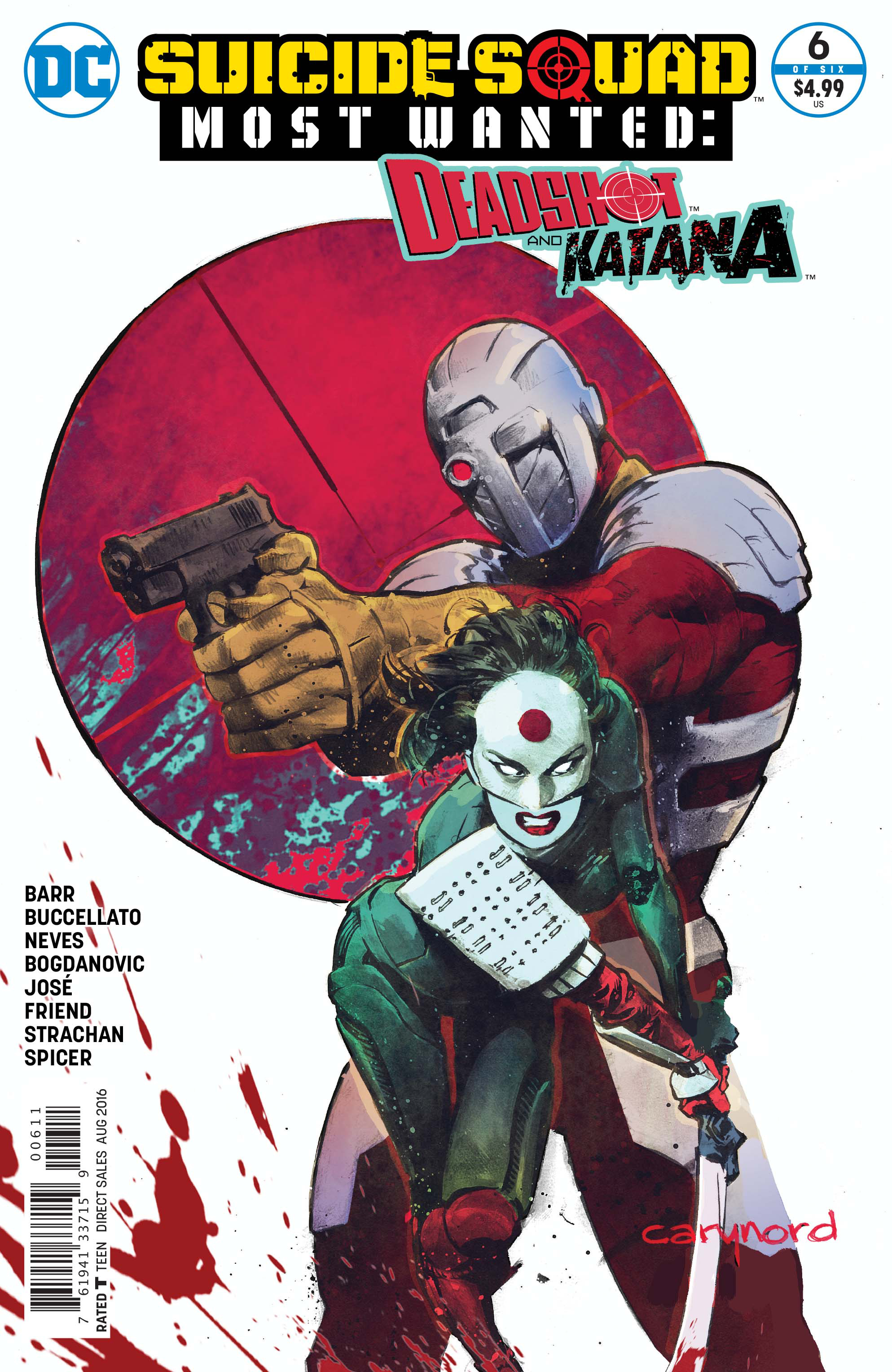 SUICIDE SQUAD MOST WANTED DEADSHOT KATANA #6 (OF 6)