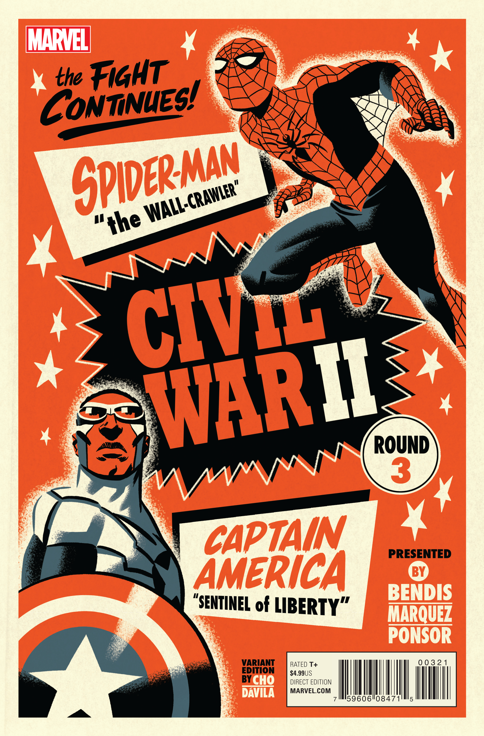 CIVIL WAR II #3 (OF 8) MICHAEL CHO VAR